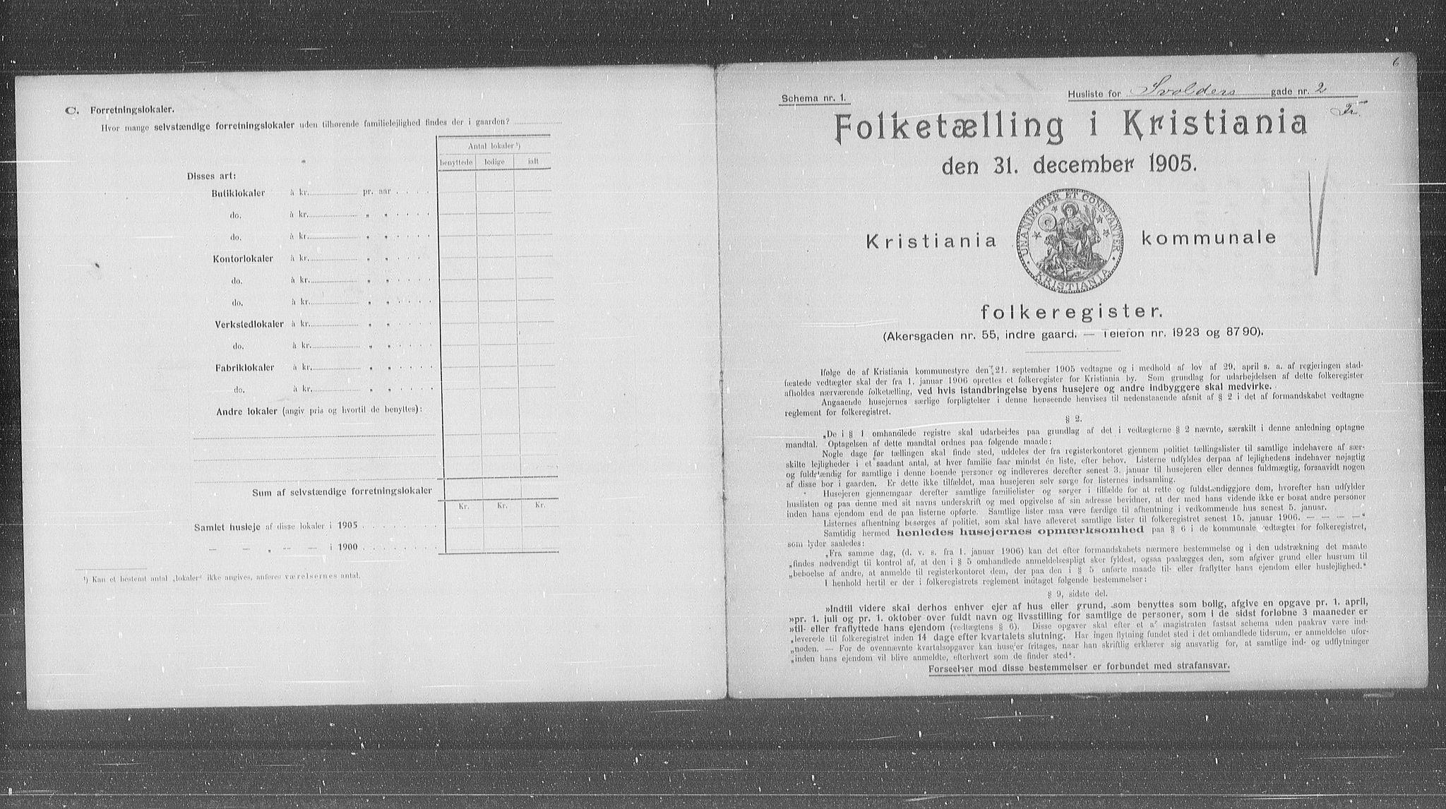OBA, Municipal Census 1905 for Kristiania, 1905, p. 55472