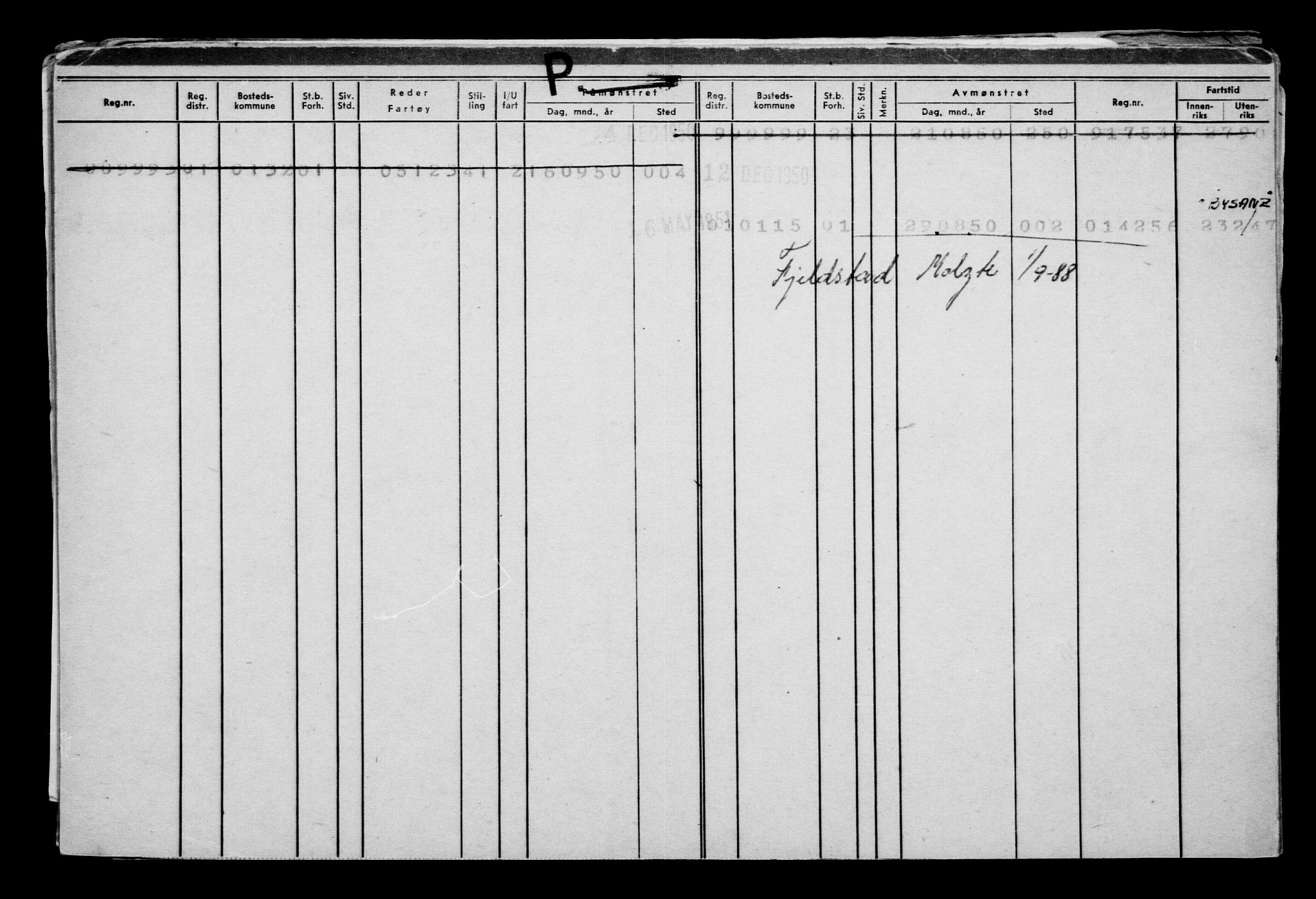 RA, Direktoratet for sjømenn, G/Gb/L0005: Hovedkort, 1888, p. 369