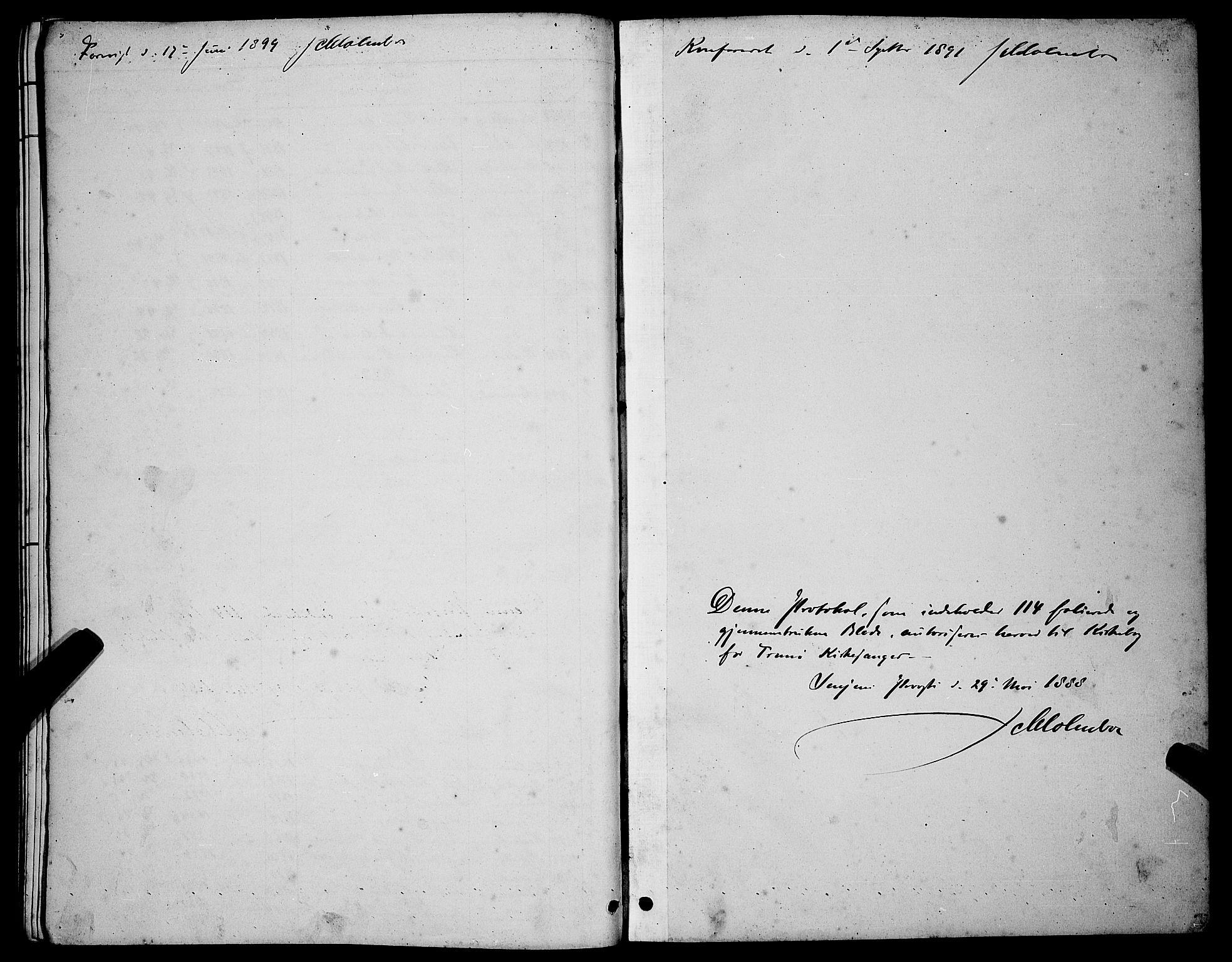 SATØ, Tranøy sokneprestkontor, I/Ia/Iab/L0004klokker: Parish register (copy) no. 4, 1888-1901