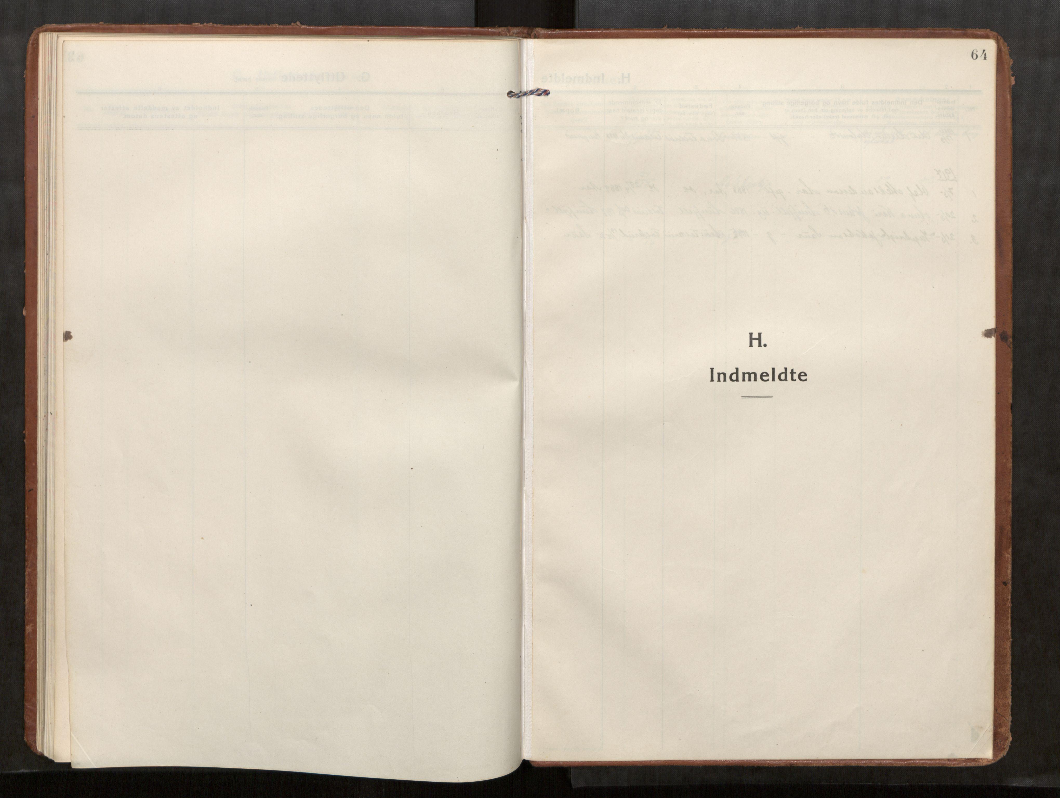 SAT, Kolvereid sokneprestkontor, H/Ha/Haa/L0002: Parish register (official) no. 2, 1914-1926, p. 64