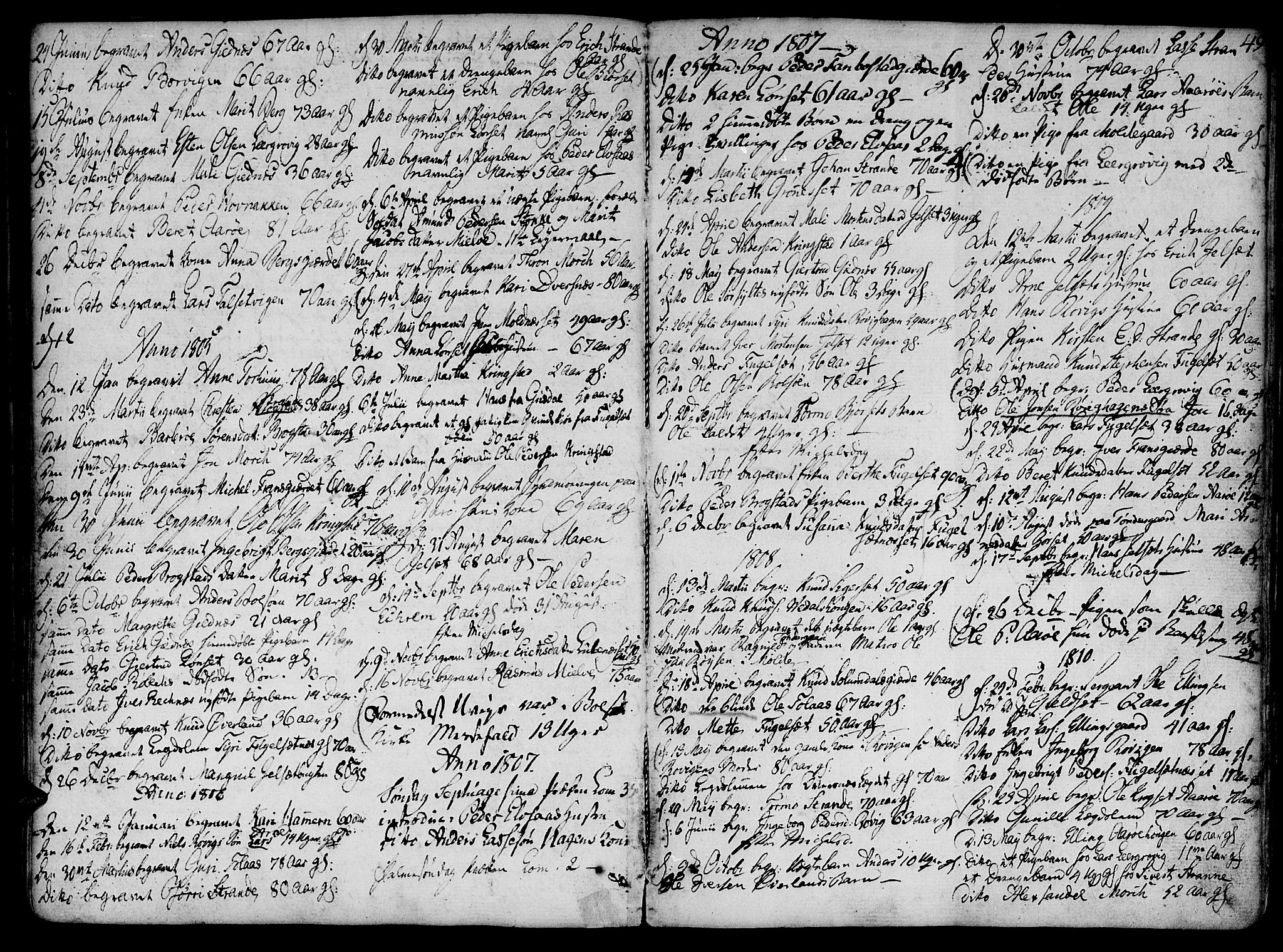 SAT, Ministerialprotokoller, klokkerbøker og fødselsregistre - Møre og Romsdal, 555/L0649: Parish register (official) no. 555A02 /1, 1795-1821, p. 49