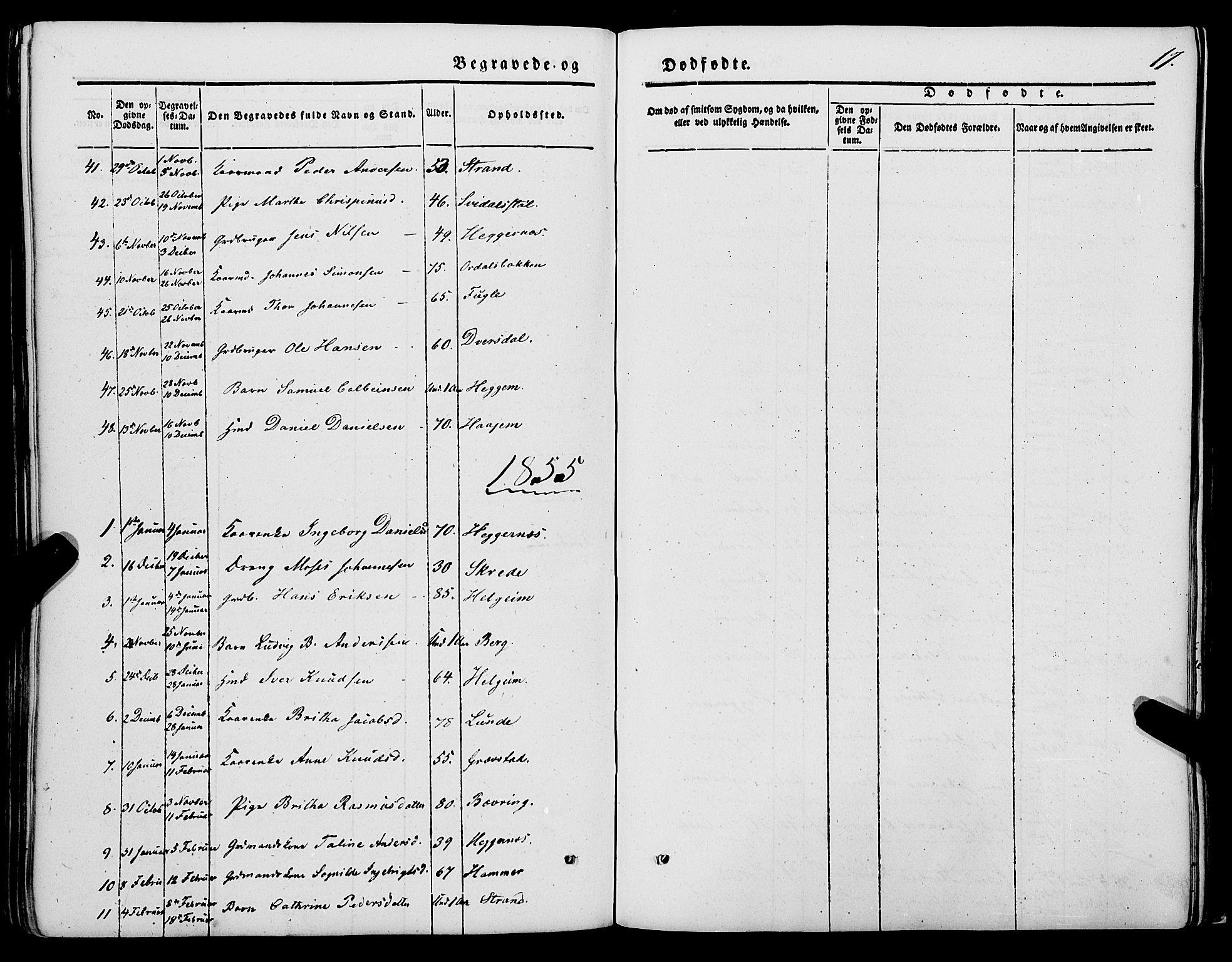 SAB, Jølster sokneprestembete, H/Haa/Haaa/L0010: Parish register (official) no. A 10, 1847-1865, p. 17