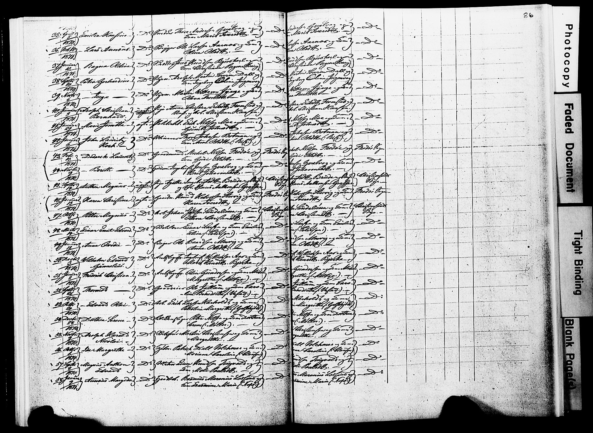 SAT, Ministerialprotokoller, klokkerbøker og fødselsregistre - Møre og Romsdal, 572/L0857: Parish register (official) no. 572D01, 1866-1872, p. 85-86