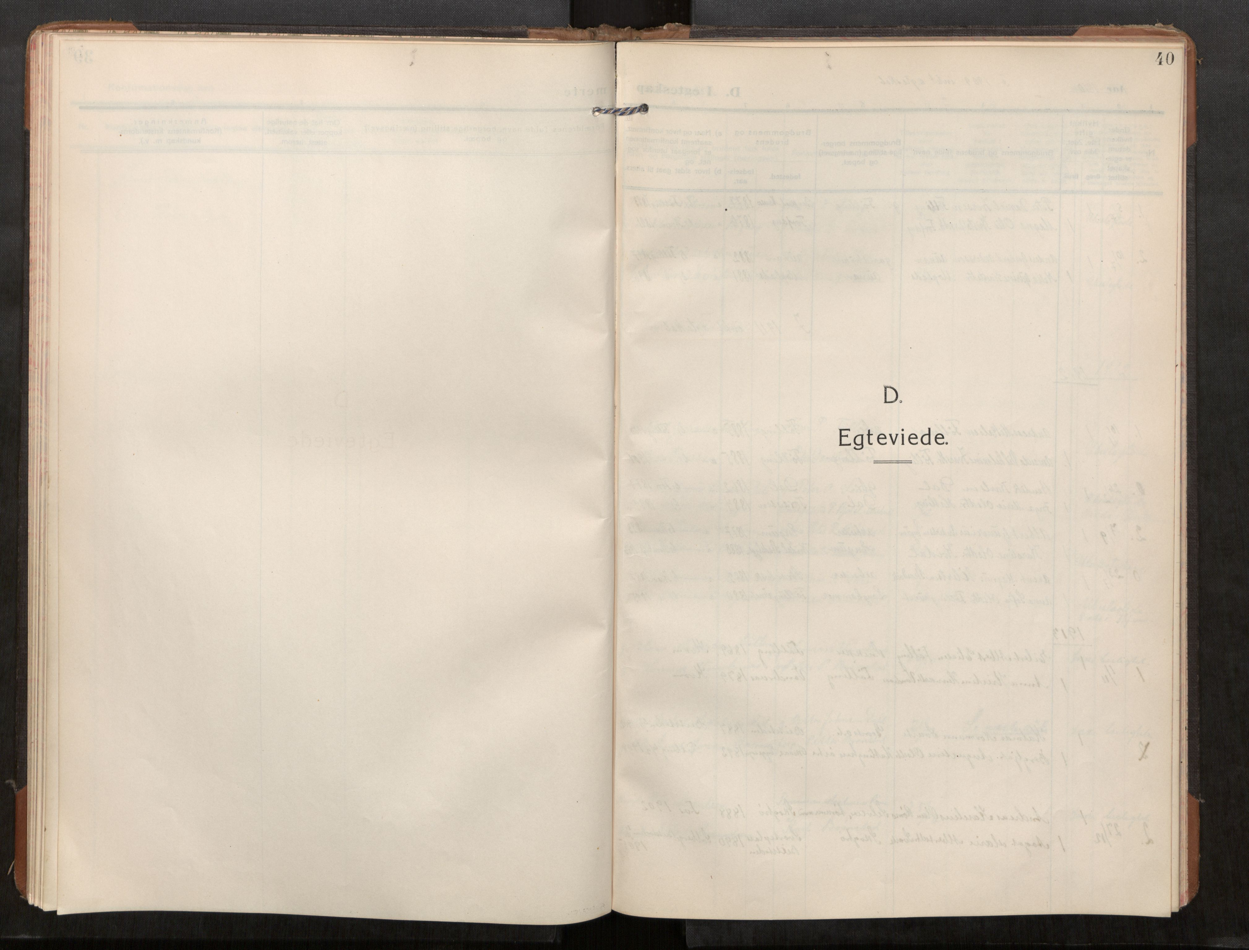 SAT, Stod sokneprestkontor, I/I1/I1a/L0003: Parish register (official) no. 3, 1909-1934, p. 40