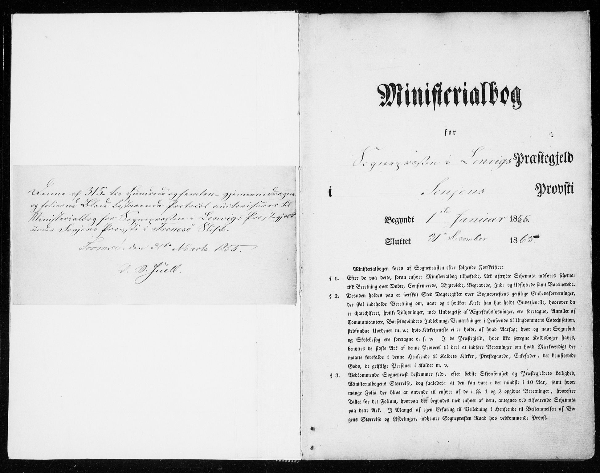 SATØ, Lenvik sokneprestembete, H/Ha: Parish register (official) no. 7, 1855-1865