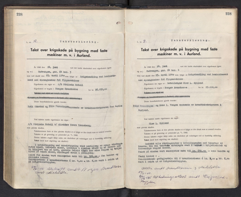 SAB, Lensmannen i Aurland, 0012/L0003: Branntakstprotokoll, 1917-1944, p. 238