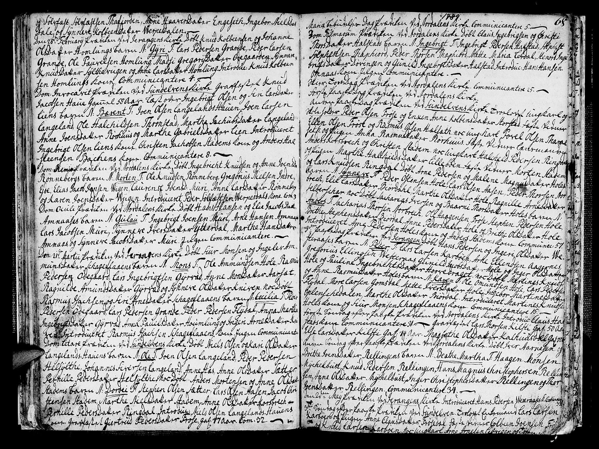 SAT, Ministerialprotokoller, klokkerbøker og fødselsregistre - Møre og Romsdal, 519/L0245: Parish register (official) no. 519A04, 1774-1816, p. 68
