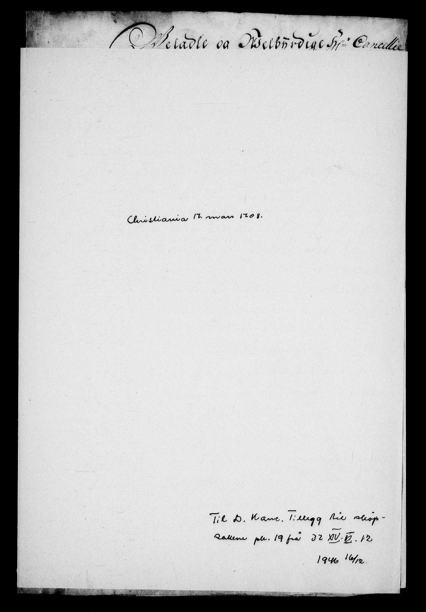 RA, Danske Kanselli, Skapsaker, G/L0019: Tillegg til skapsakene, 1616-1753, p. 350