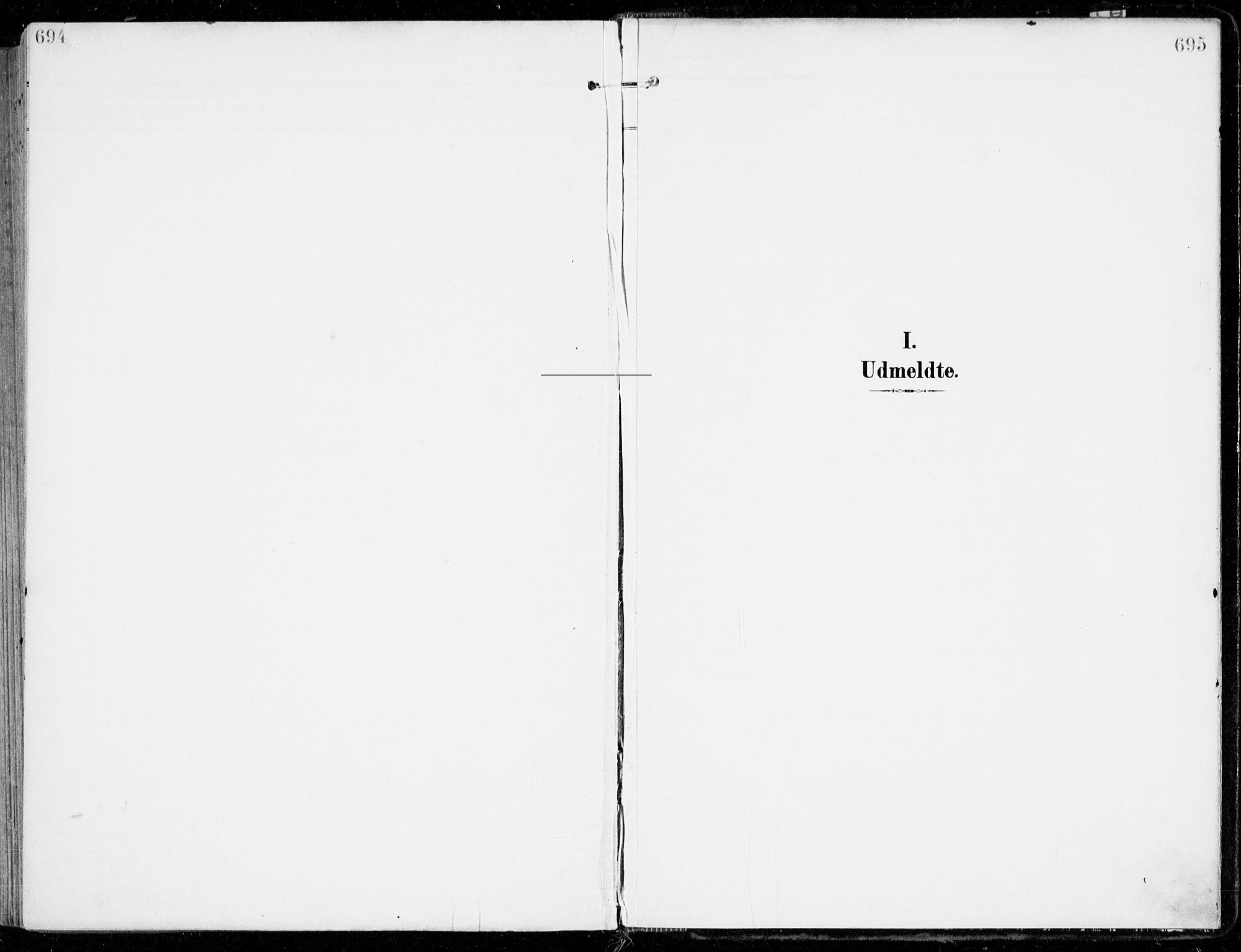 SAKO, Sem kirkebøker, F/Fb/L0006: Parish register (official) no. II 6, 1905-1918, p. 694-695