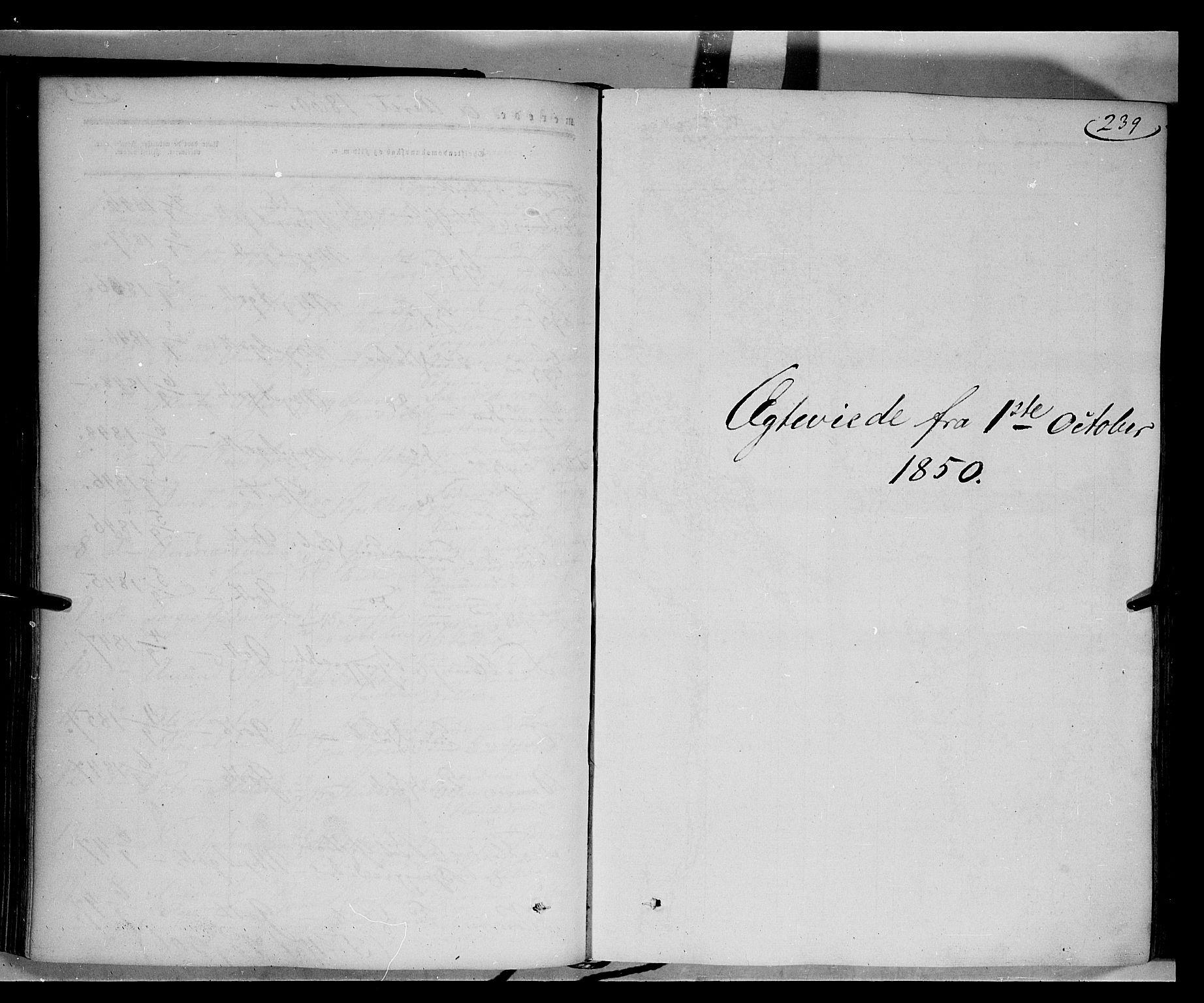 SAH, Gausdal prestekontor, Parish register (official) no. 8, 1850-1861, p. 239