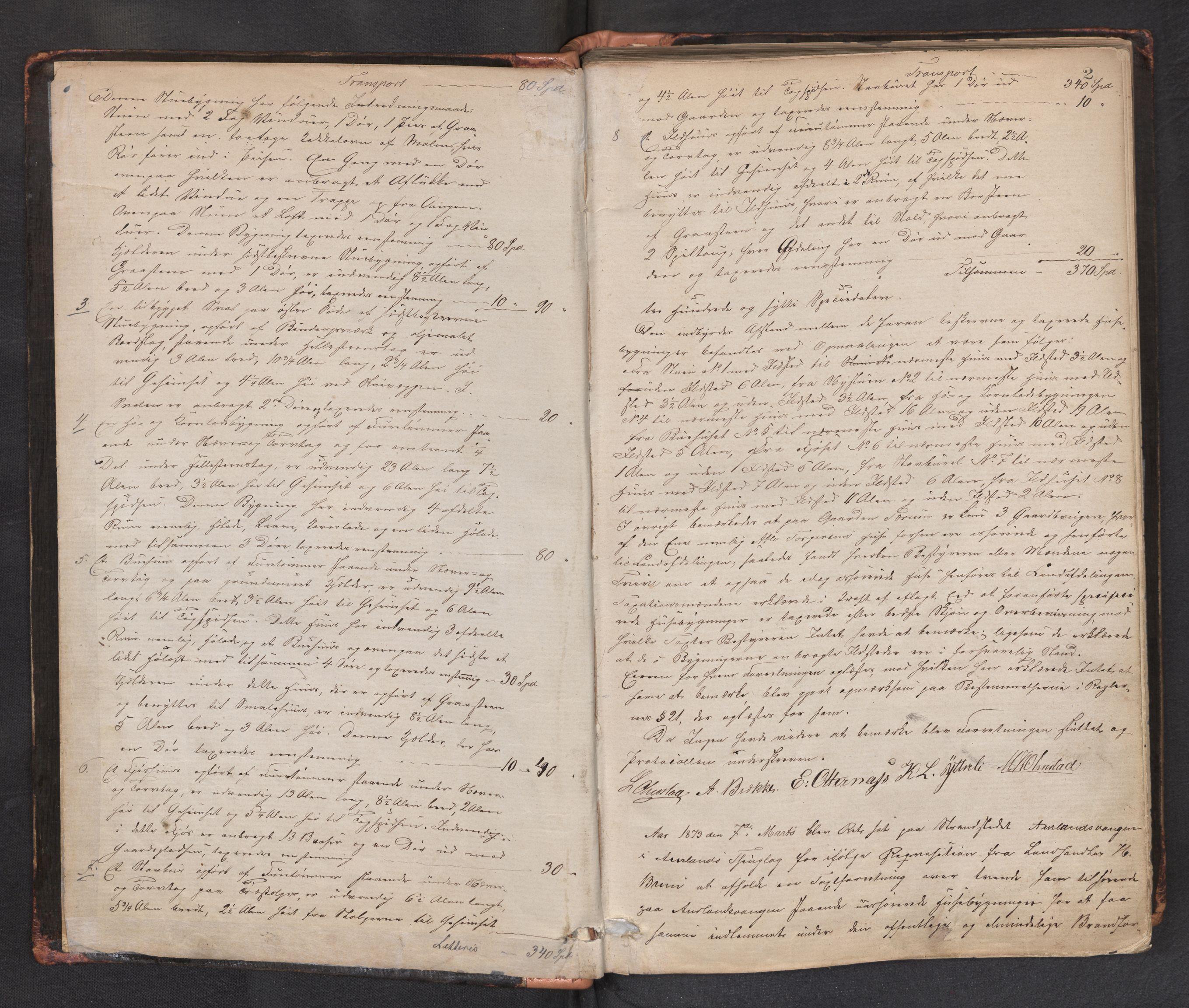 SAB, Lensmannen i Aurland, 0012/L0002: Branntakstprotokoll, 1873-1917, p. 1b-2a