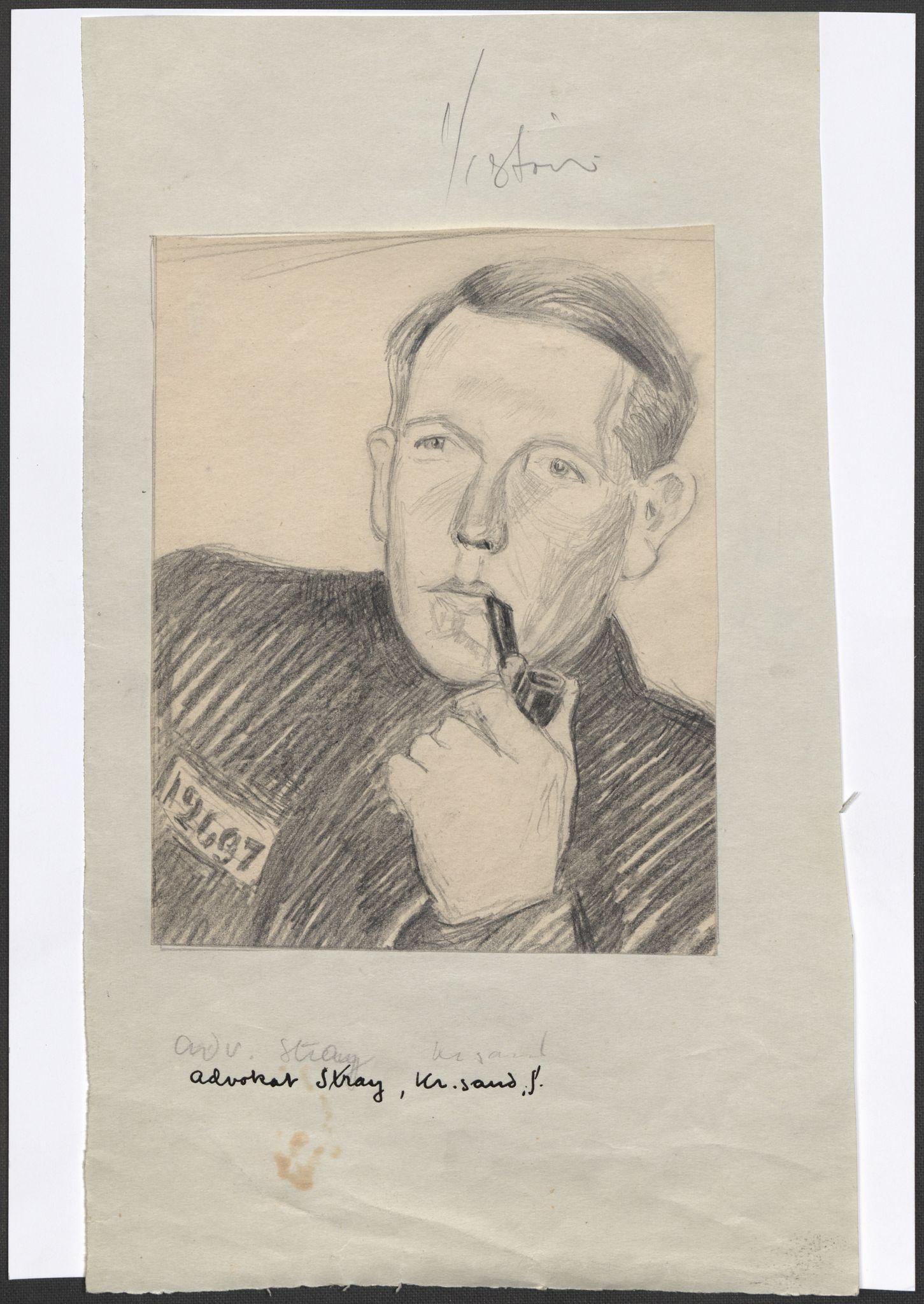 RA, Grøgaard, Joachim, F/L0002: Tegninger og tekster, 1942-1945, p. 99