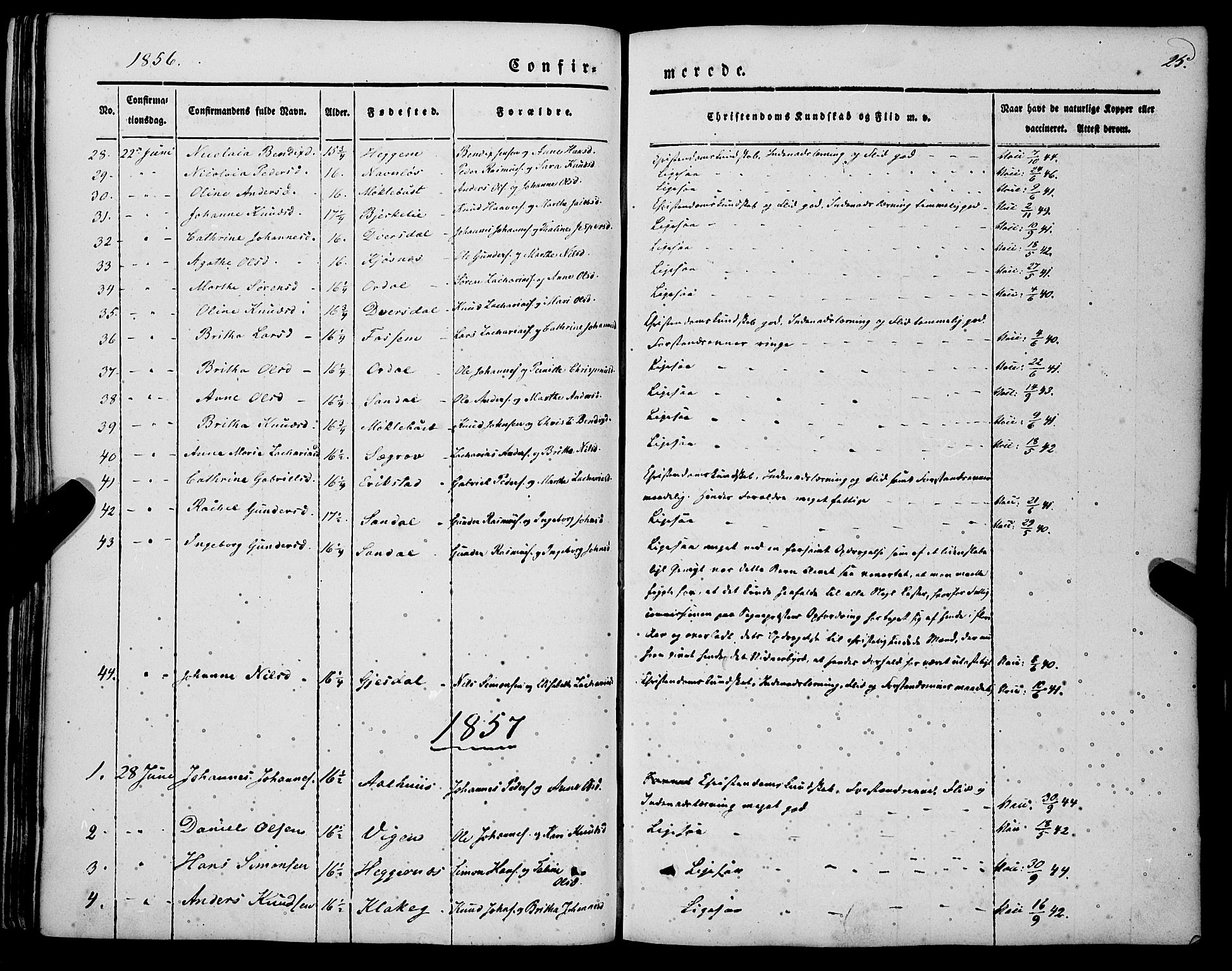 SAB, Jølster sokneprestembete, H/Haa/Haaa/L0010: Parish register (official) no. A 10, 1847-1865, p. 25