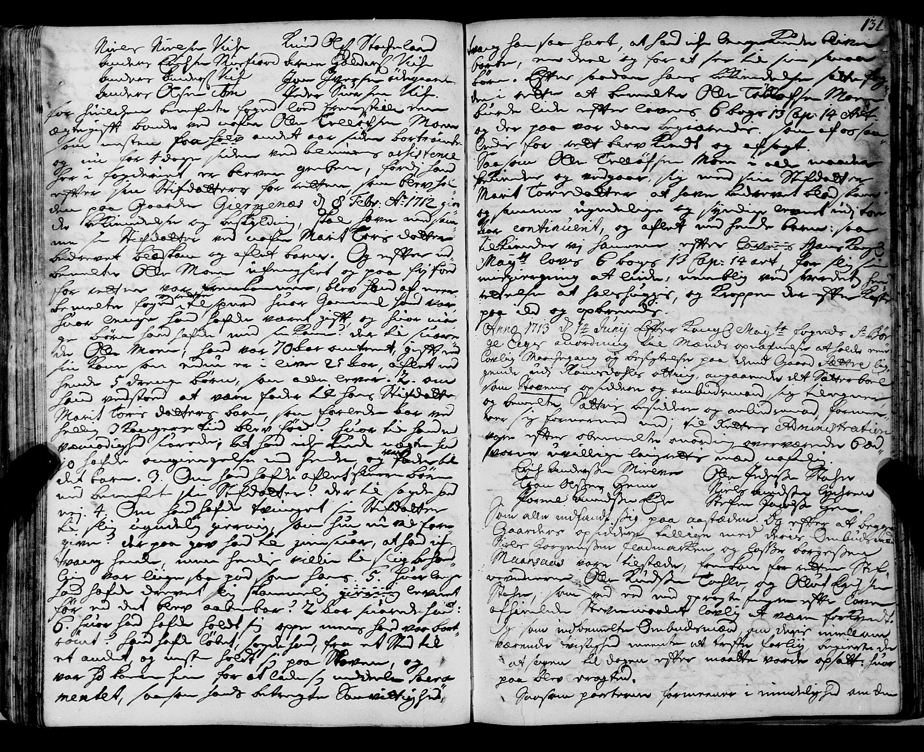 SAT, Romsdal sorenskriveri, 1/1A/L0007: Tingbok, 1711-1714, p. 130b-131a