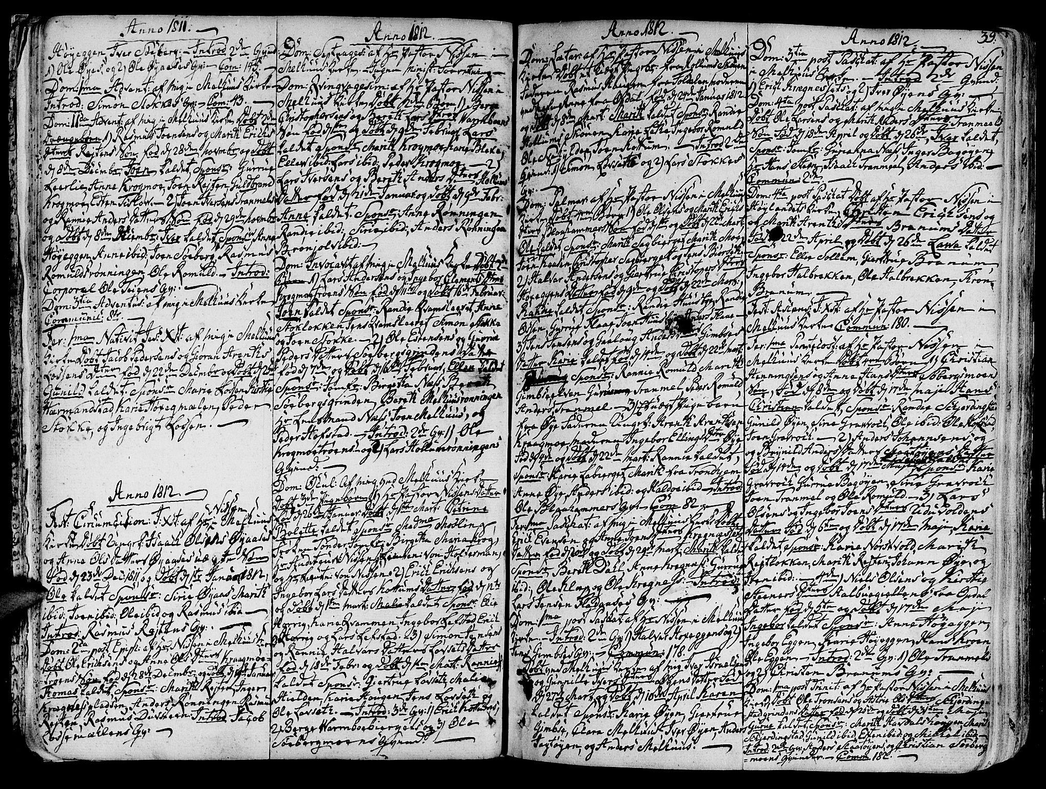SAT, Ministerialprotokoller, klokkerbøker og fødselsregistre - Sør-Trøndelag, 691/L1061: Parish register (official) no. 691A02 /1, 1768-1815, p. 39