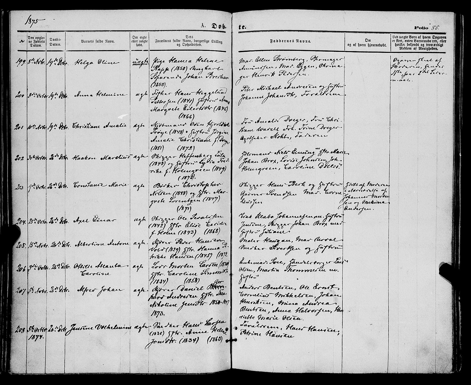 SATØ, Tromsø sokneprestkontor/stiftsprosti/domprosti, G/Ga/L0013kirke: Parish register (official) no. 13, 1872-1877, p. 85