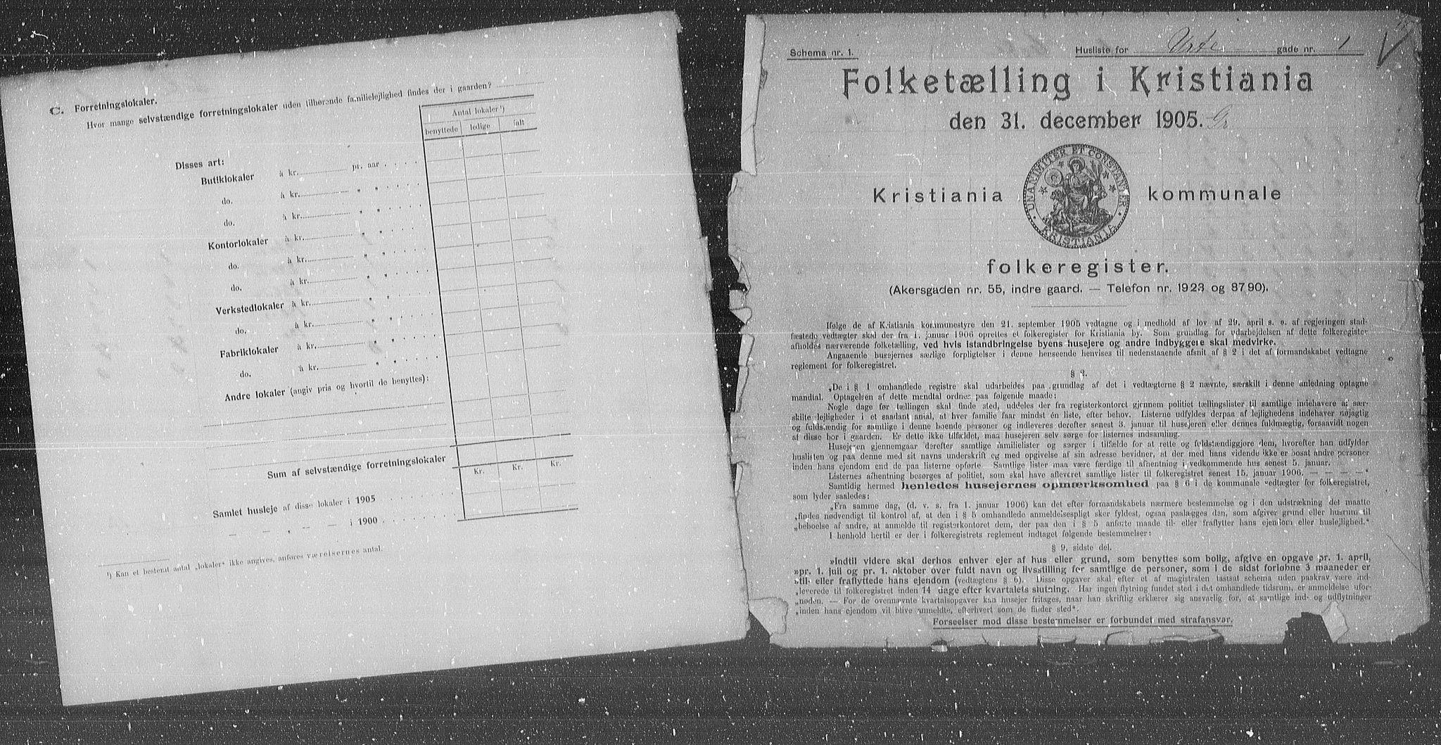 OBA, Municipal Census 1905 for Kristiania, 1905, p. 63389