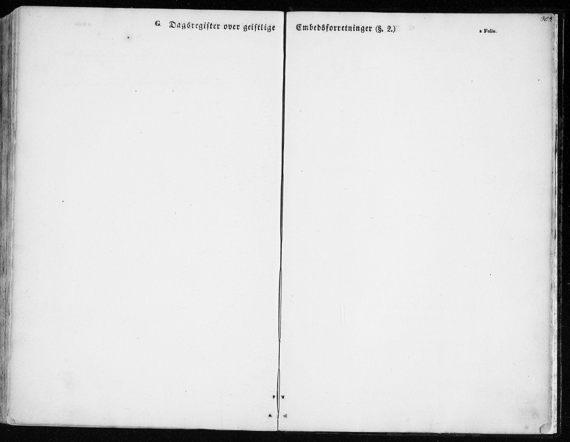 SATØ, Balsfjord sokneprestembete, Parish register (official) no. 3, 1856-1870, p. 303
