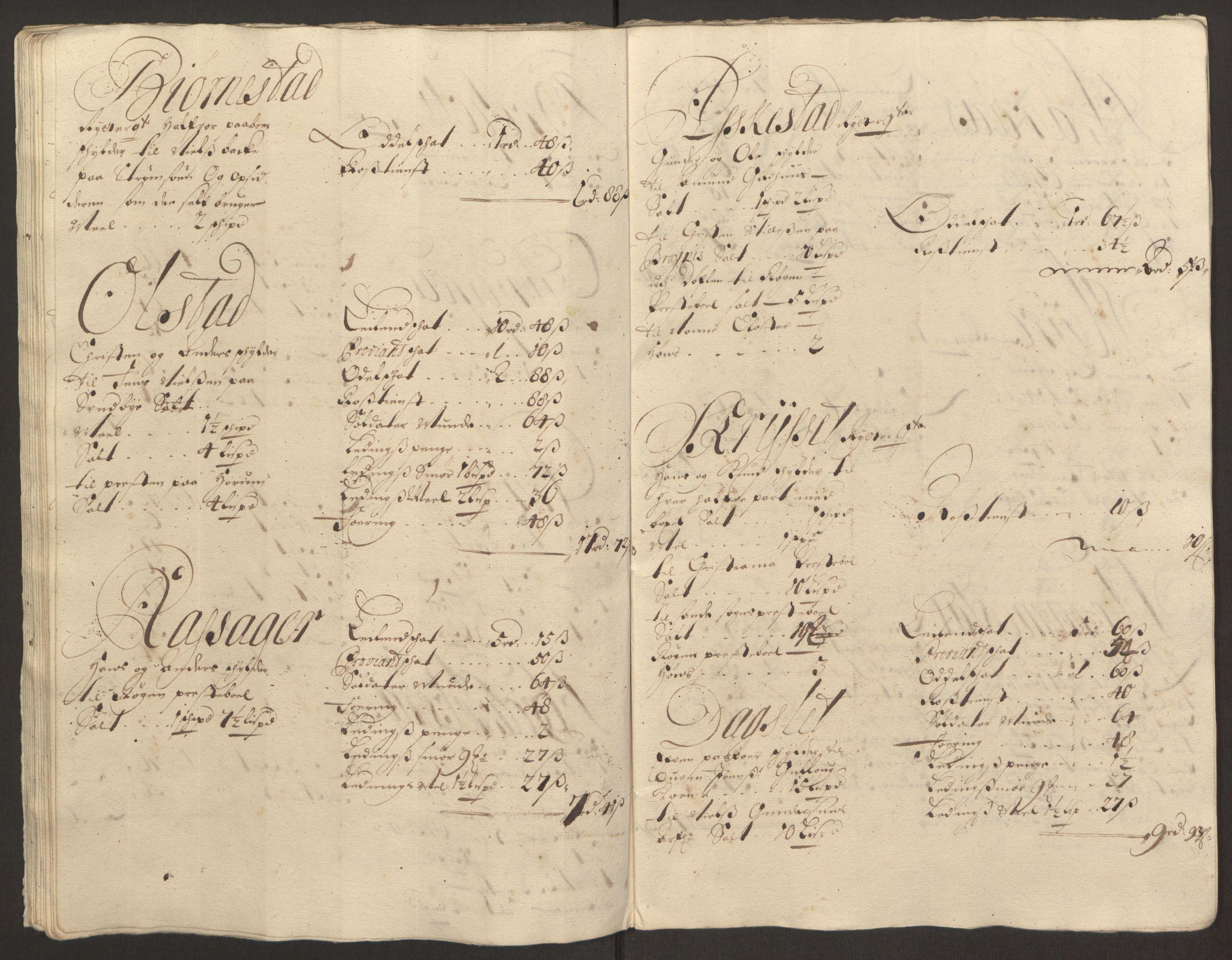 RA, Rentekammeret inntil 1814, Reviderte regnskaper, Fogderegnskap, R30/L1694: Fogderegnskap Hurum, Røyken, Eiker og Lier, 1694-1696, p. 352