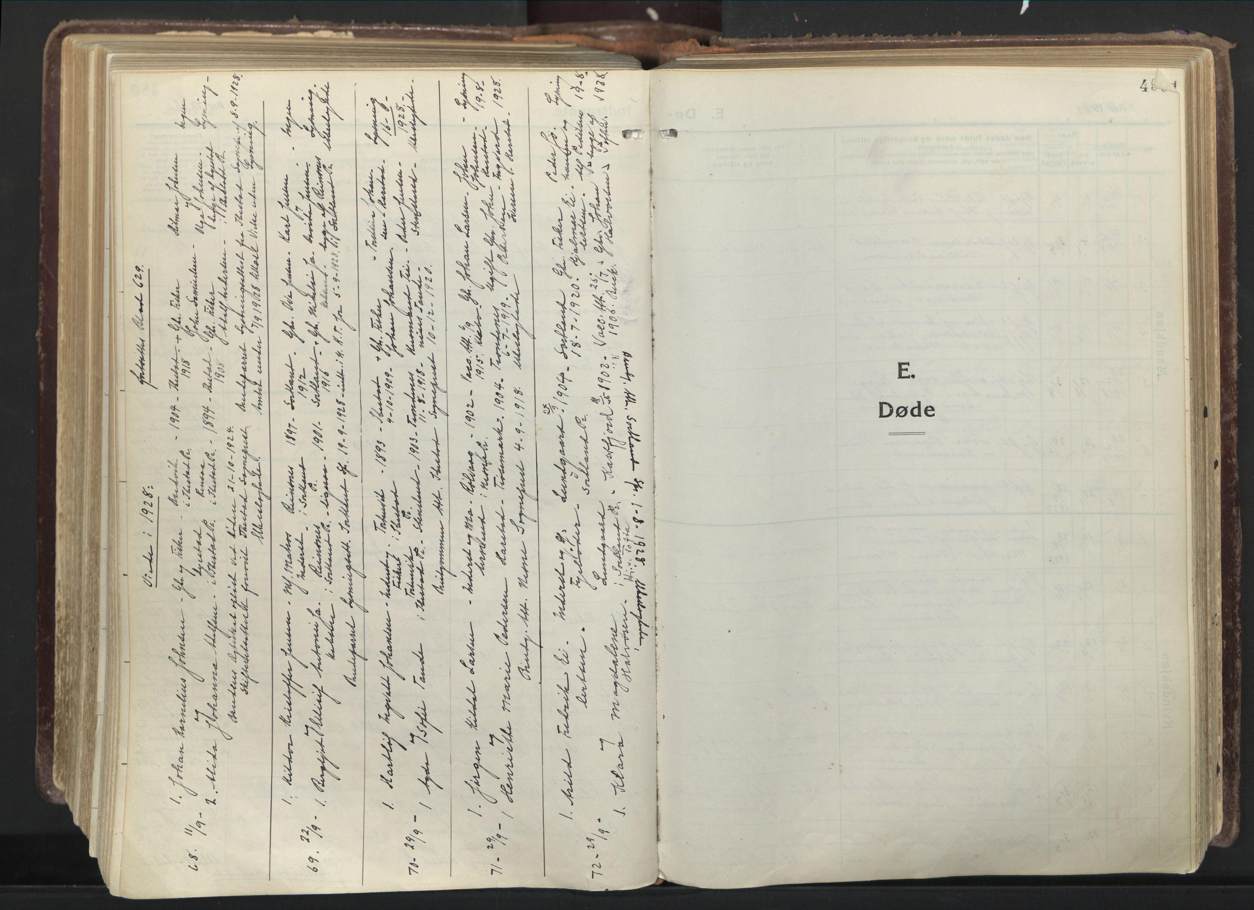 SATØ, Trondenes sokneprestkontor, H/Ha/L0019kirke: Parish register (official) no. 19, 1919-1928, p. 490