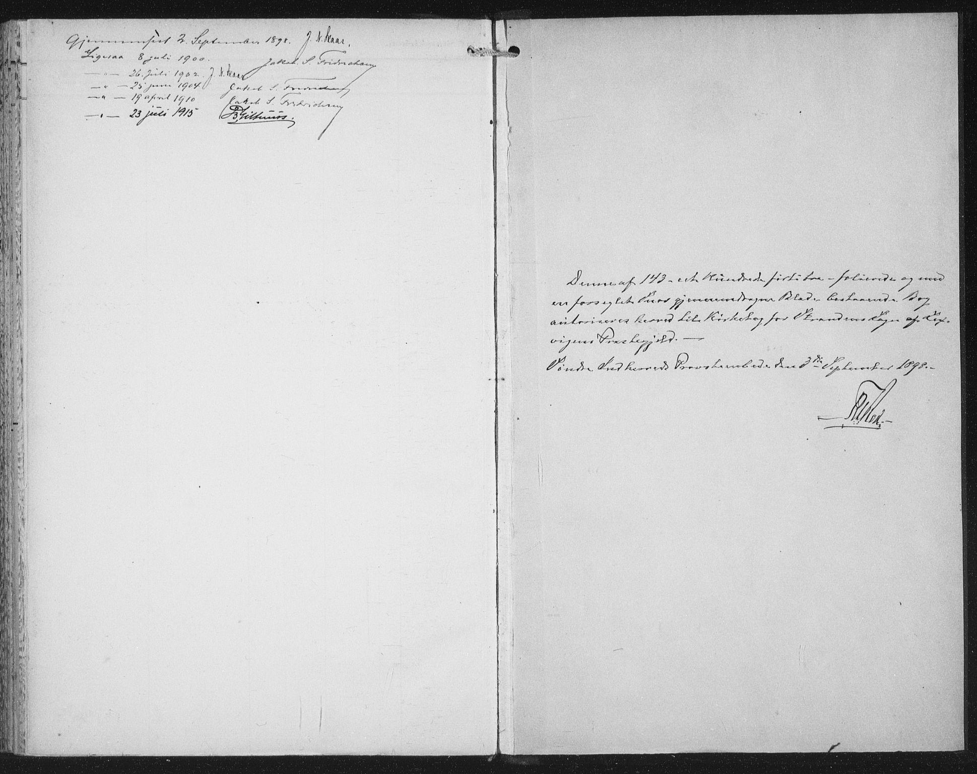 SAT, Ministerialprotokoller, klokkerbøker og fødselsregistre - Nord-Trøndelag, 702/L0024: Parish register (official) no. 702A02, 1898-1914
