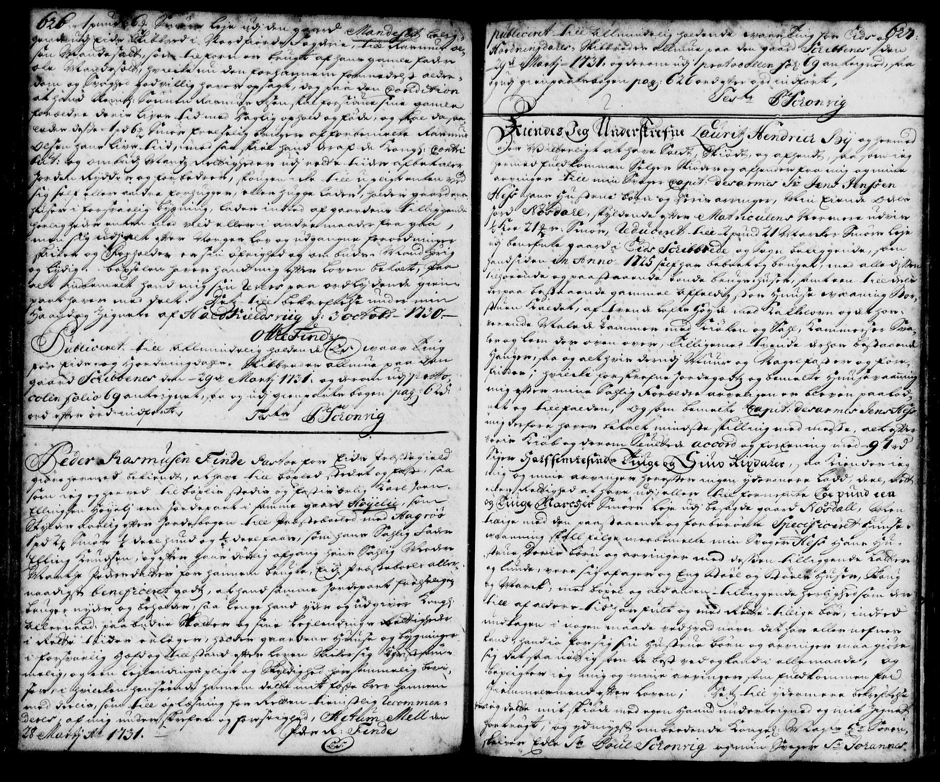 SAB, Nordfjord sorenskriveri, 02/02b/02ba/L0003: Mortgage book no. II.B.a.3, 1723-1733, p. 626-627