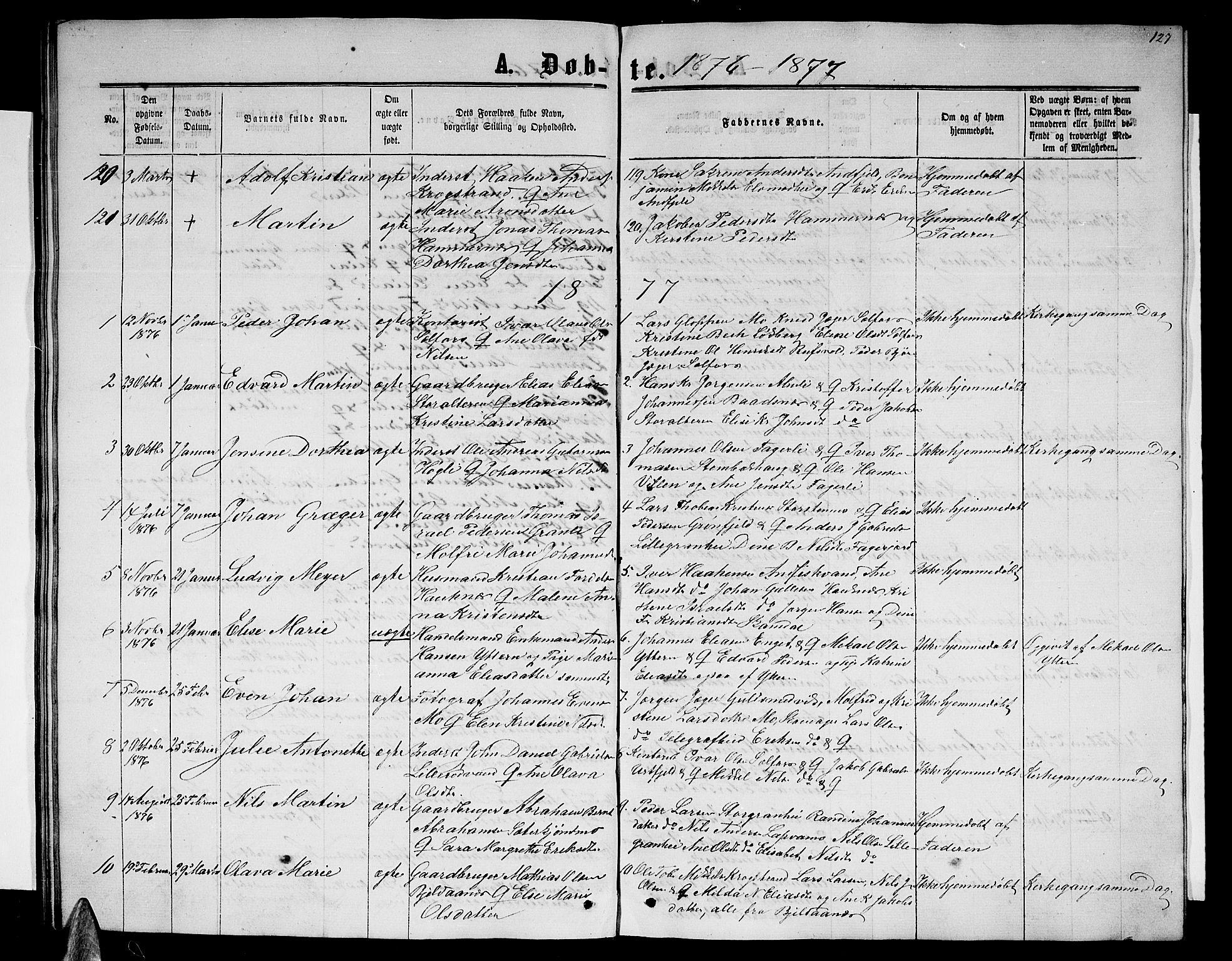 SAT, Ministerialprotokoller, klokkerbøker og fødselsregistre - Nordland, 827/L0415: Parish register (copy) no. 827C04, 1864-1886, p. 127