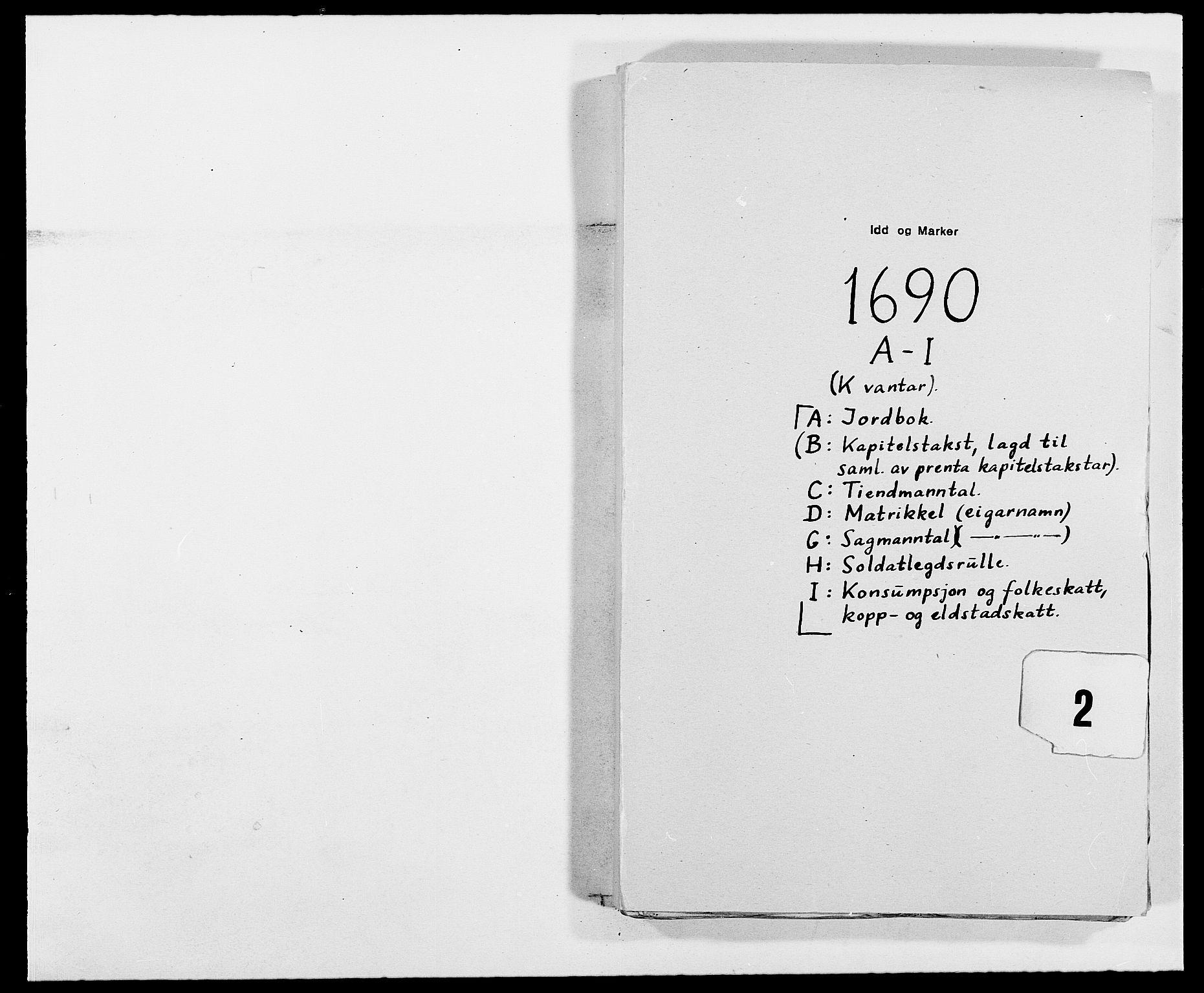 RA, Rentekammeret inntil 1814, Reviderte regnskaper, Fogderegnskap, R01/L0010: Fogderegnskap Idd og Marker, 1690-1691, p. 166