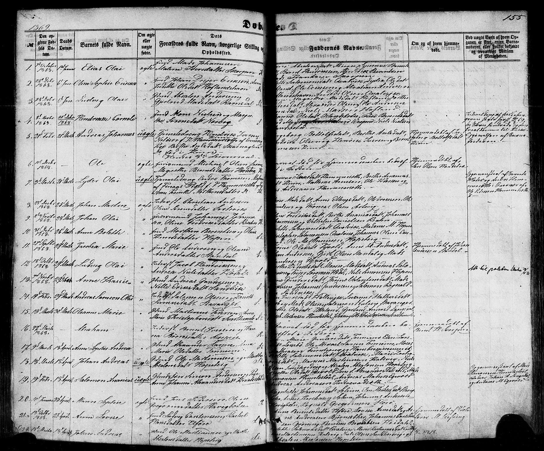 SAB, Kinn sokneprestembete, H/Haa/Haaa/L0006: Parish register (official) no. A 6, 1857-1885, p. 155