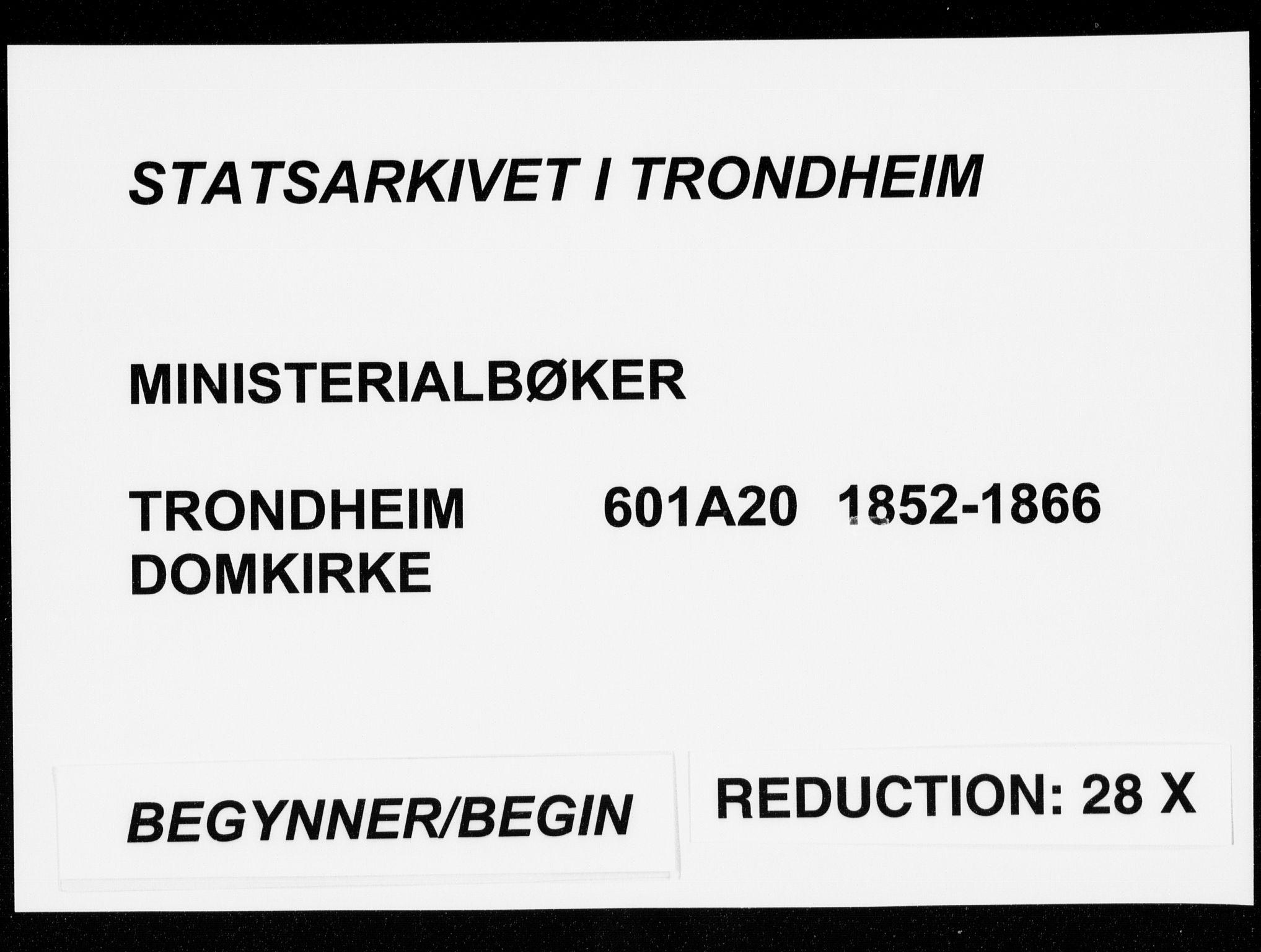 SAT, Ministerialprotokoller, klokkerbøker og fødselsregistre - Sør-Trøndelag, 601/L0052: Parish register (official) no. 601A20, 1852-1866