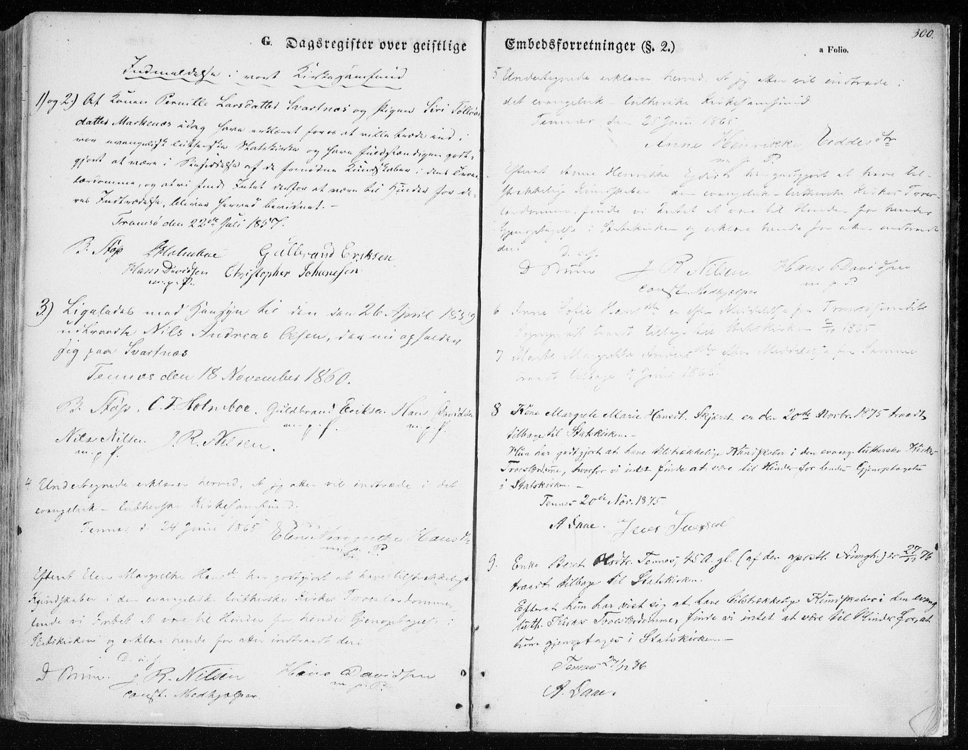 SATØ, Balsfjord sokneprestembete, Parish register (official) no. 3, 1856-1870, p. 300