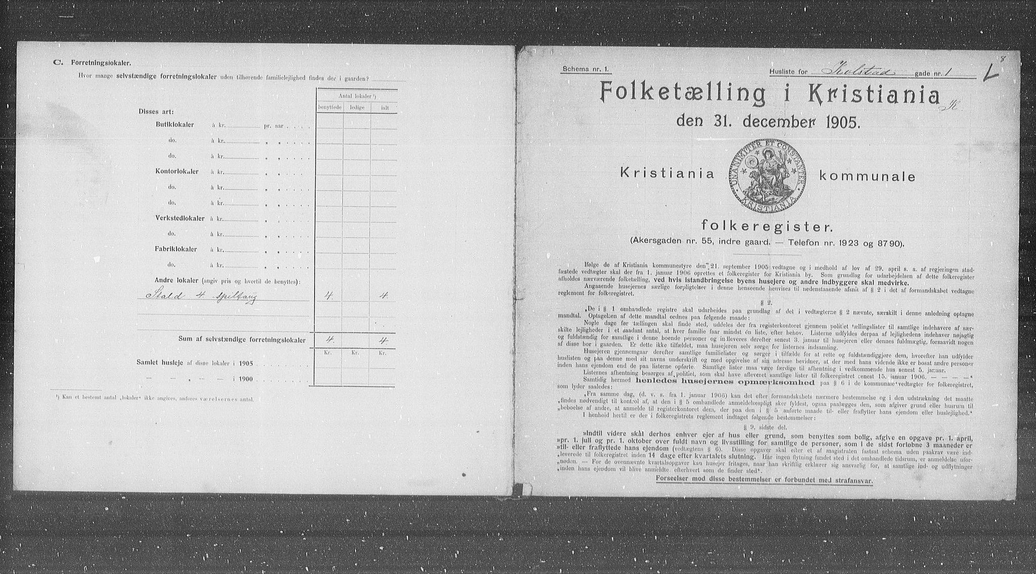 OBA, Municipal Census 1905 for Kristiania, 1905, p. 27472
