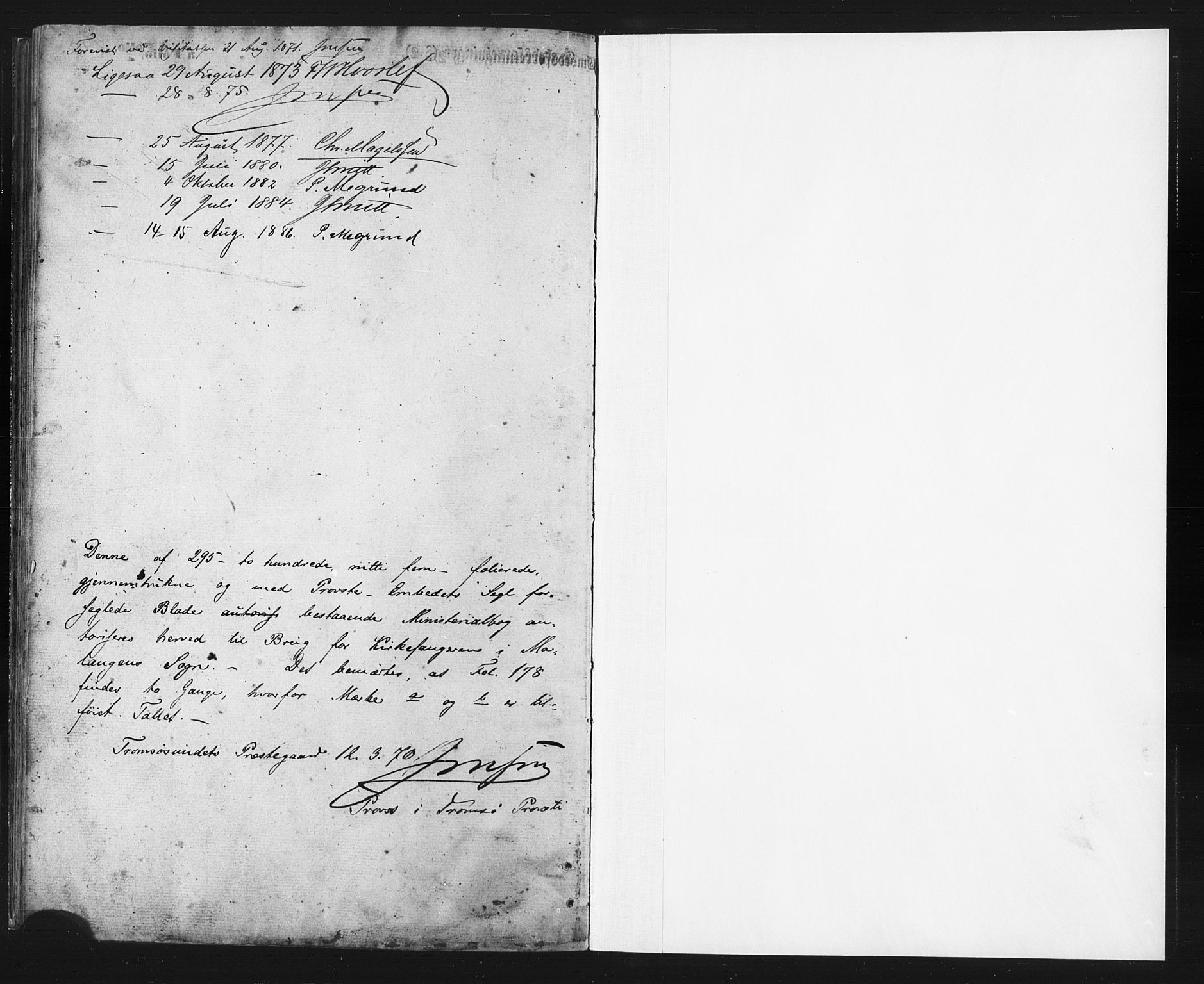 SATØ, Balsfjord sokneprestembete, Parish register (copy) no. 2, 1870-1886