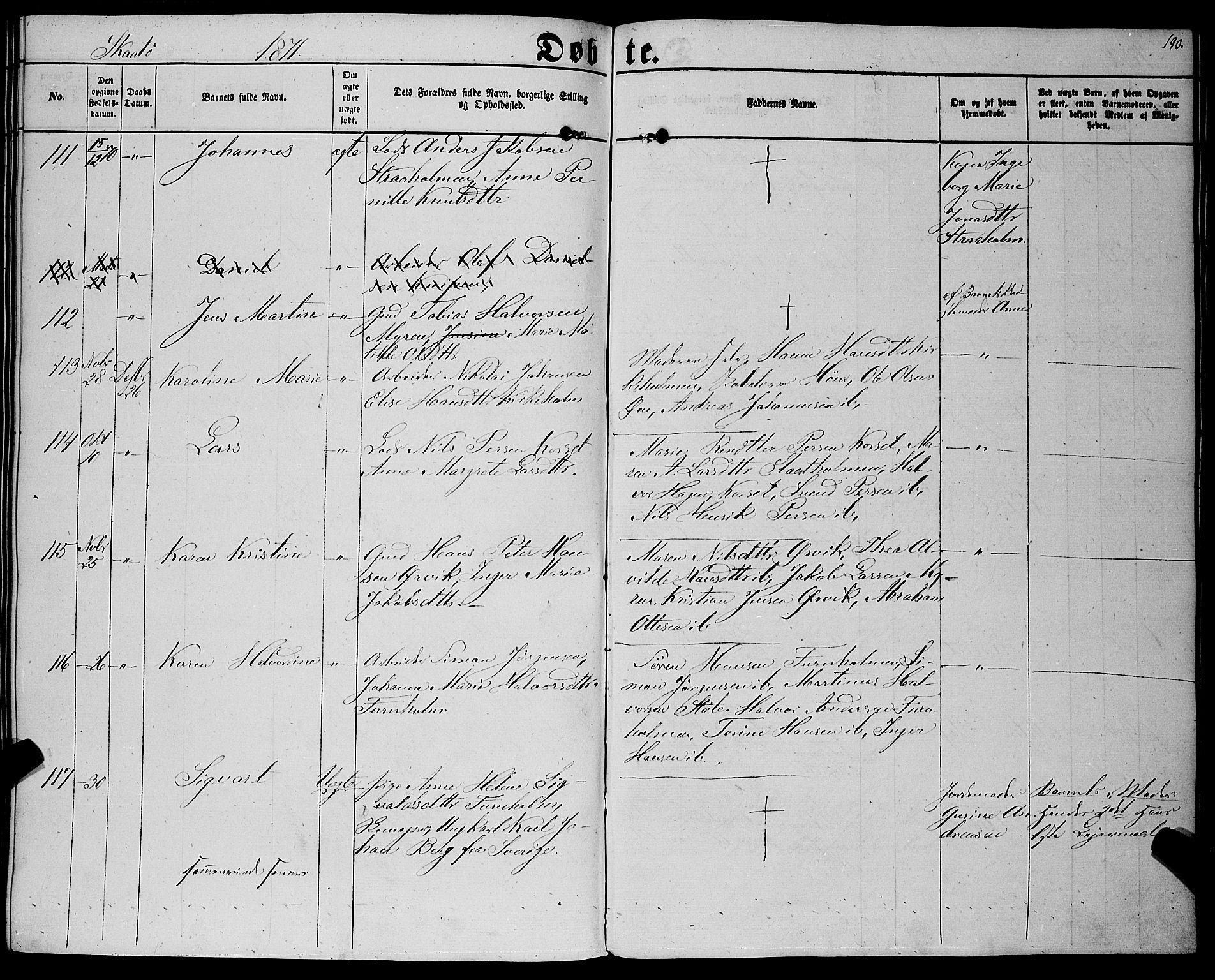 SAKO, Sannidal kirkebøker, F/Fa/L0011: Parish register (official) no. 11, 1863-1873, p. 190