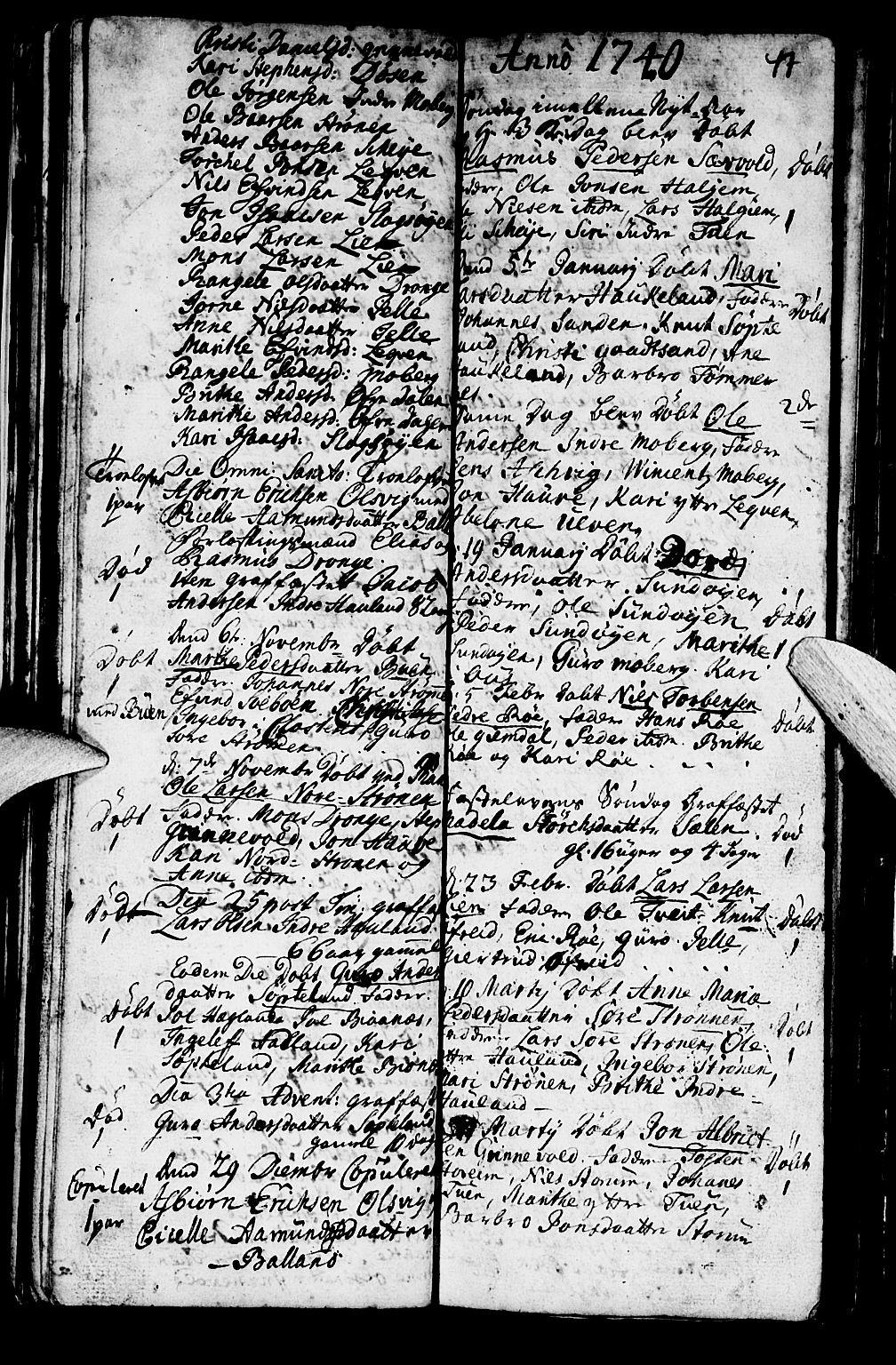 SAB, Os sokneprestembete*, Parish register (official) no. A 2, 1723-1758, p. 47