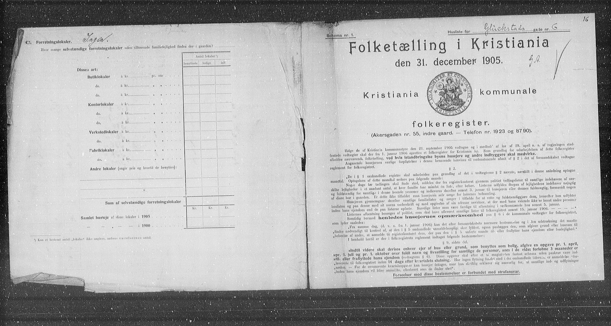 OBA, Municipal Census 1905 for Kristiania, 1905, p. 15277