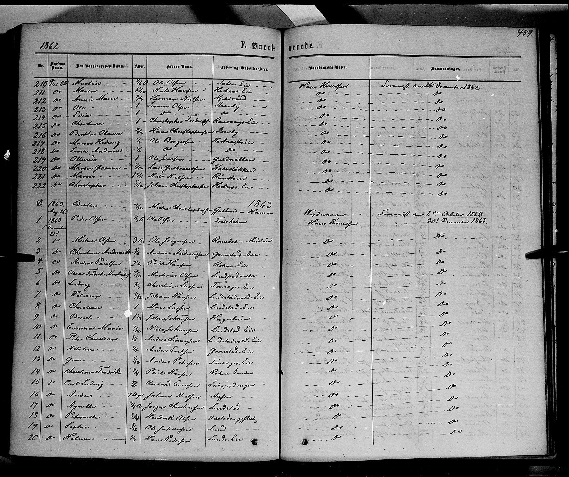 SAH, Stange prestekontor, K/L0013: Parish register (official) no. 13, 1862-1879, p. 459