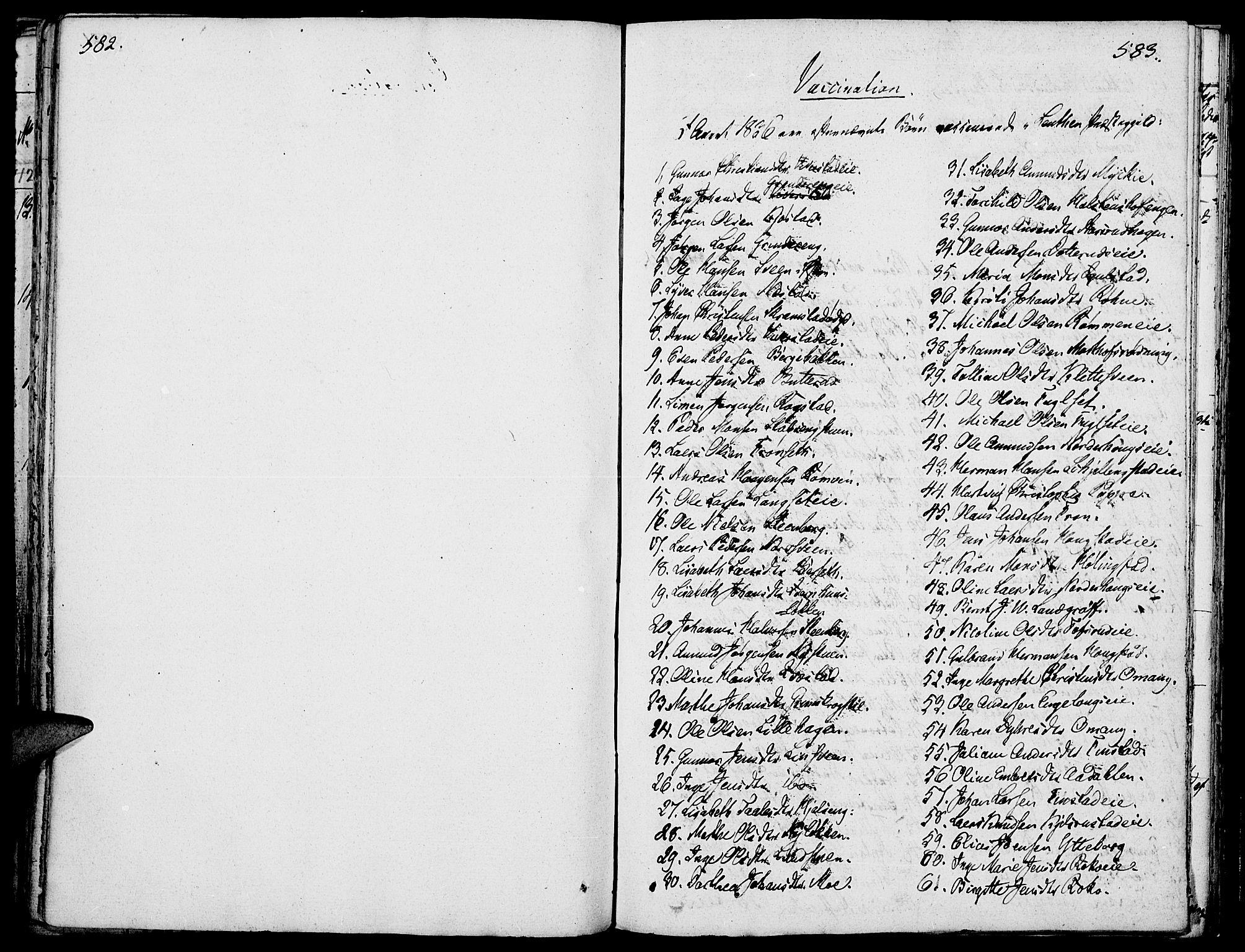 SAH, Løten prestekontor, K/Ka/L0006: Parish register (official) no. 6, 1832-1849, p. 582-583