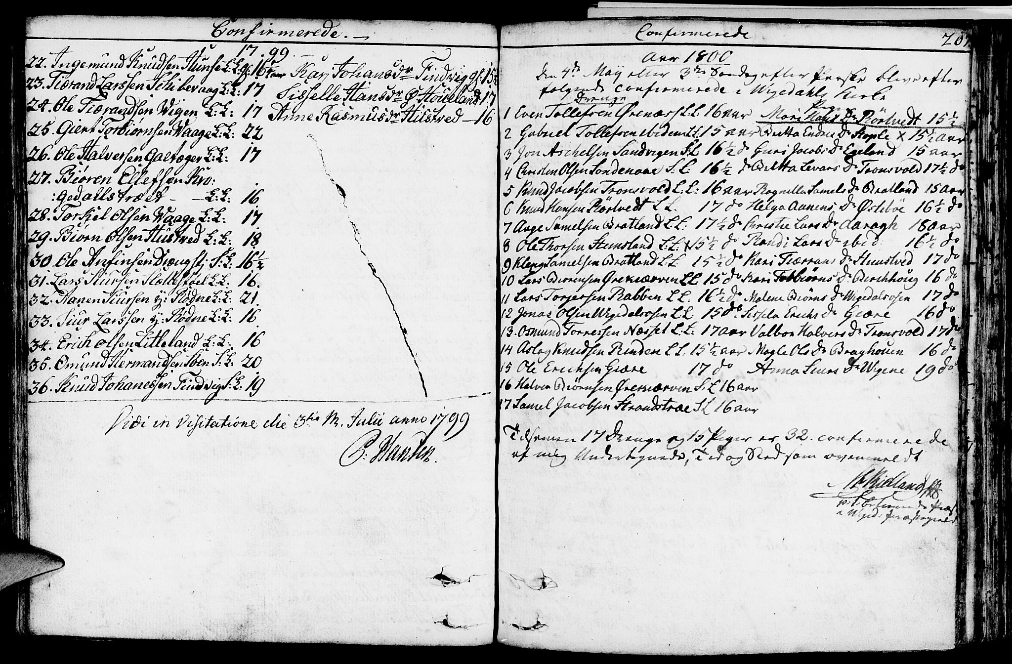 SAST, Vikedal sokneprestkontor, IV: Parish register (official) no. A 2, 1779-1817, p. 207