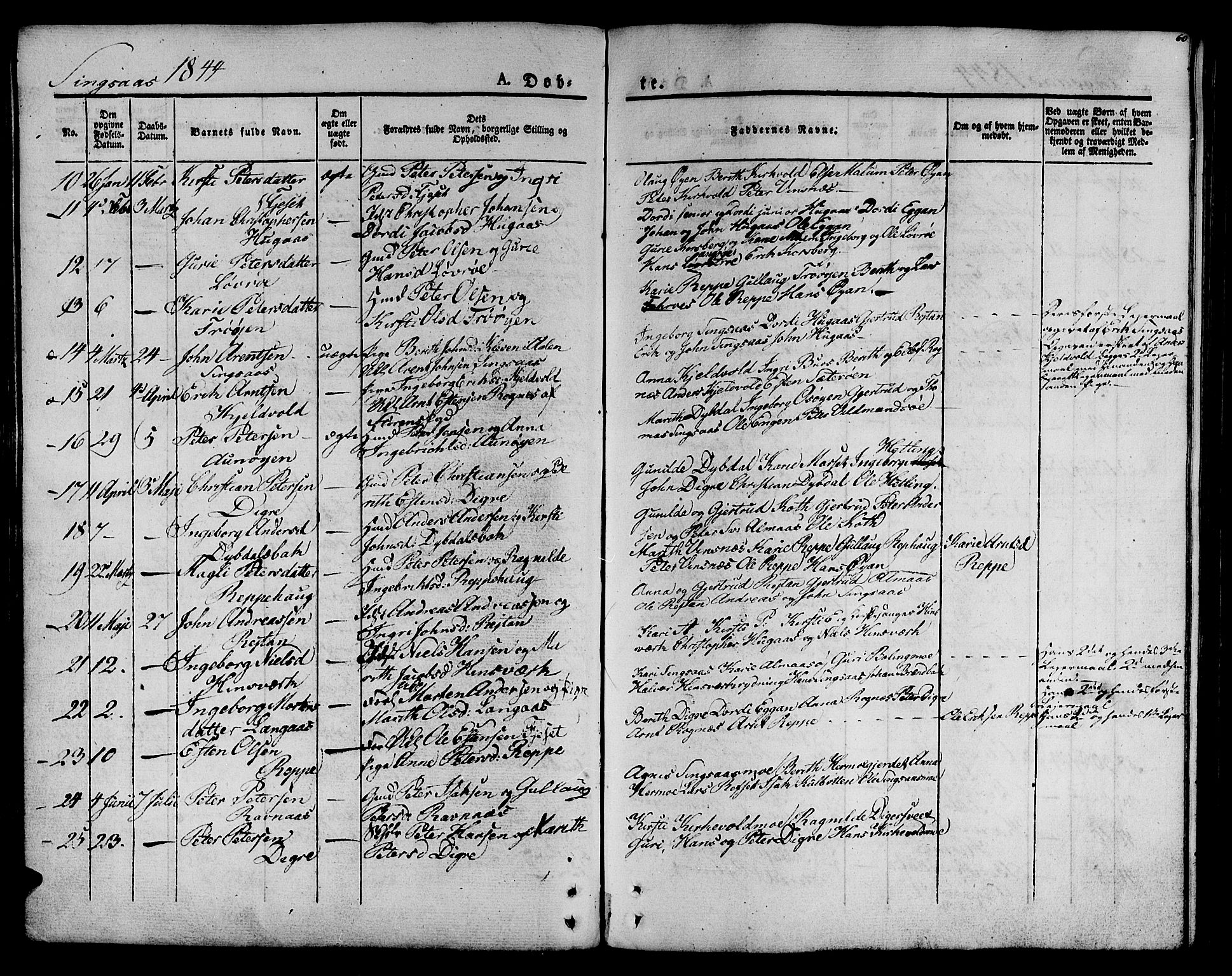 SAT, Ministerialprotokoller, klokkerbøker og fødselsregistre - Sør-Trøndelag, 685/L0958: Parish register (official) no. 685A04 /2, 1829-1845, p. 60