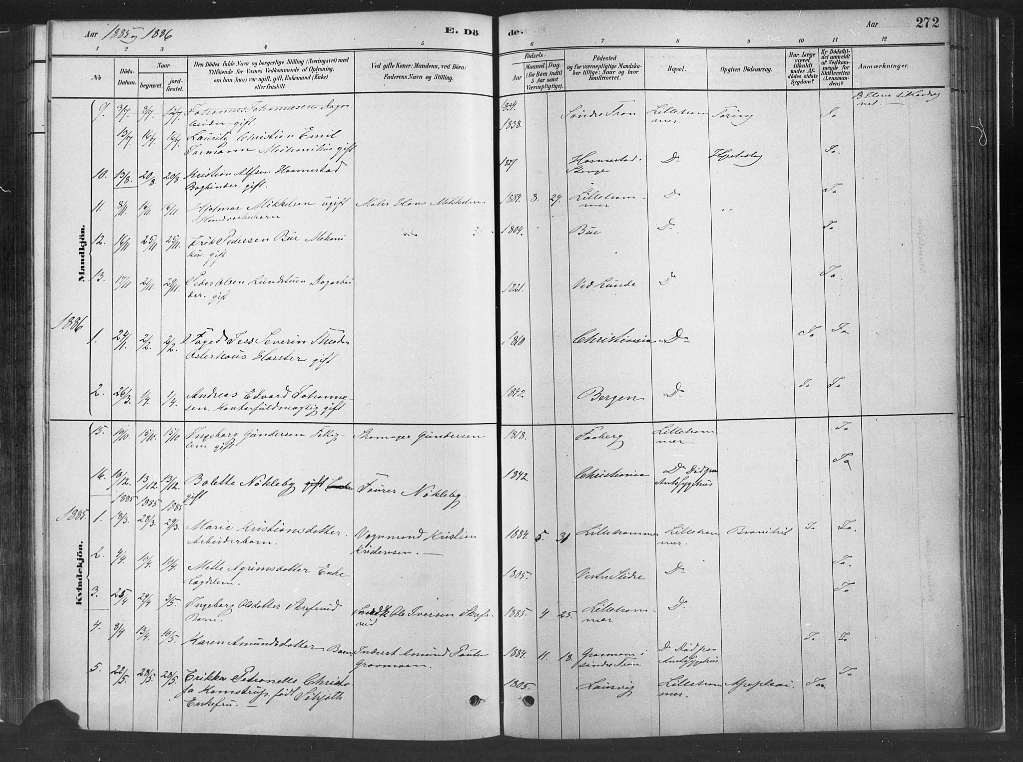 SAH, Fåberg prestekontor, H/Ha/Haa/L0010: Parish register (official) no. 10, 1879-1900, p. 272