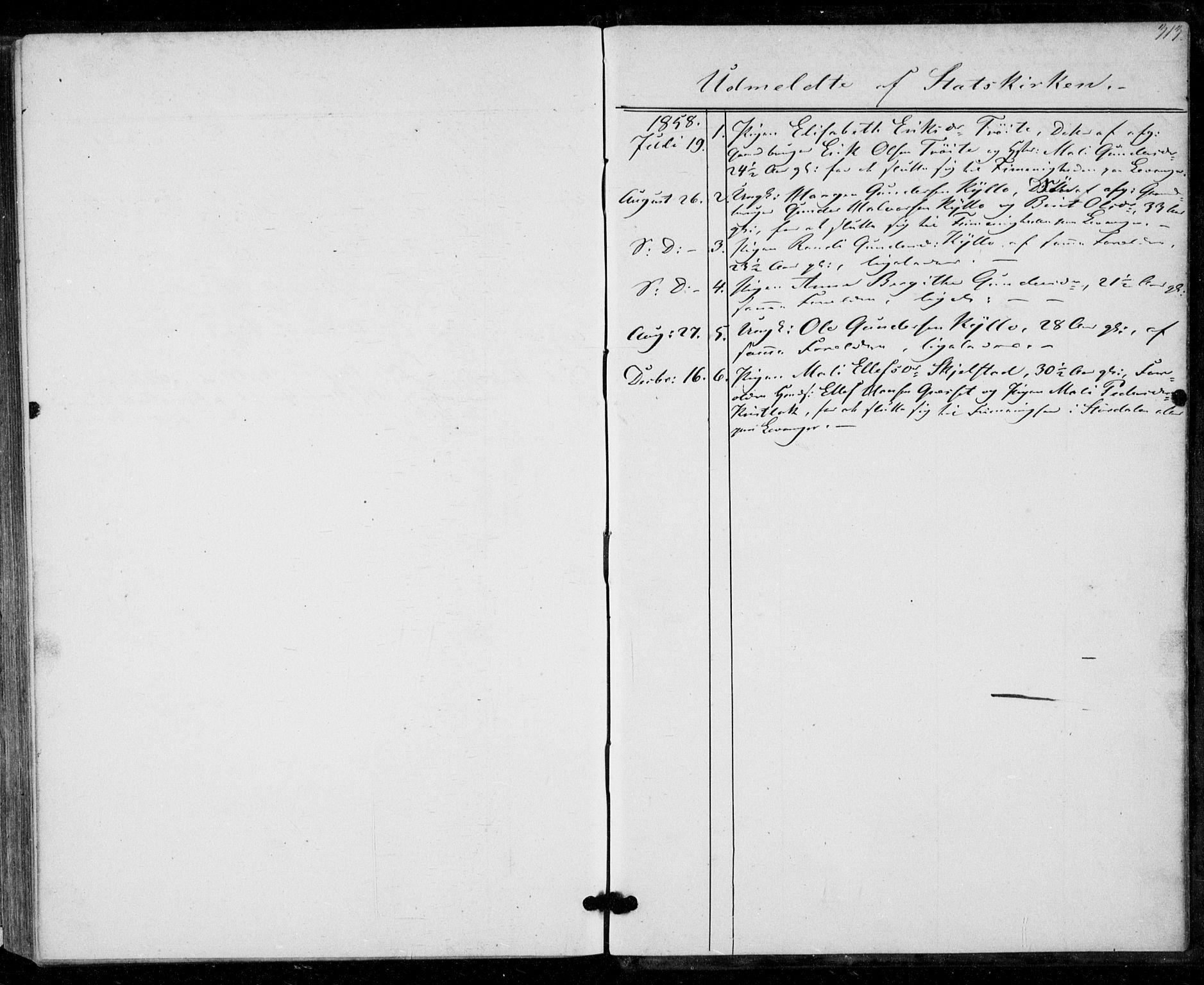 SAT, Ministerialprotokoller, klokkerbøker og fødselsregistre - Nord-Trøndelag, 703/L0028: Parish register (official) no. 703A01, 1850-1862, p. 313