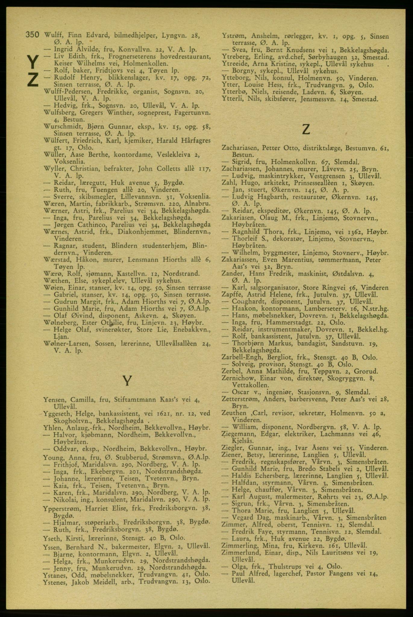 RA, Aker adressebok/adressekalender (publikasjon)*, 1937-1938, p. 350