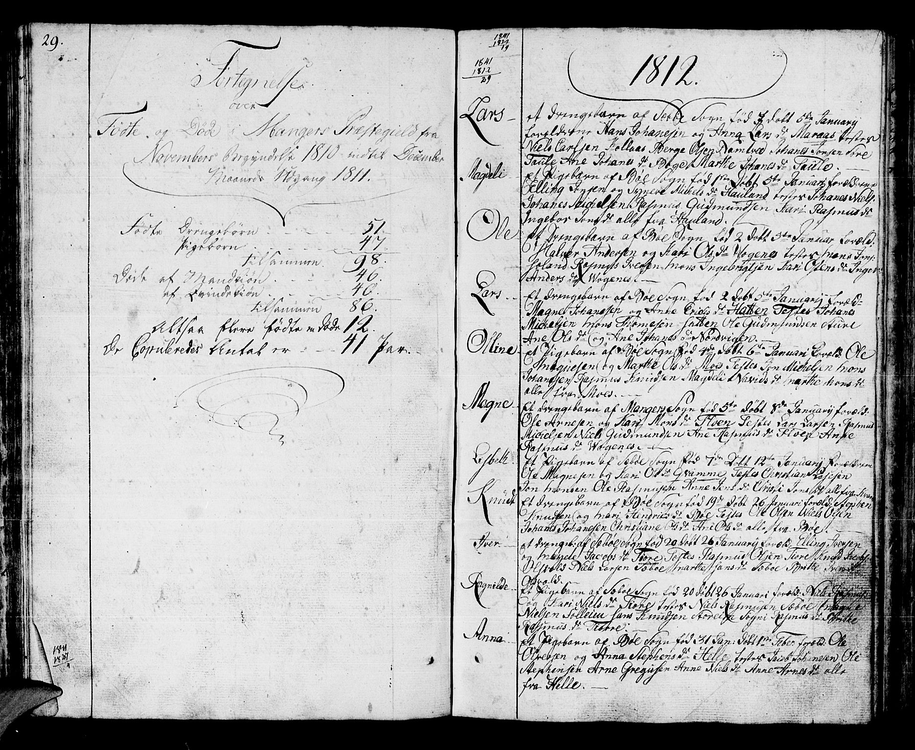 SAB, Manger sokneprestembete, H/Haa: Parish register (official) no. A 2, 1792-1815, p. 125