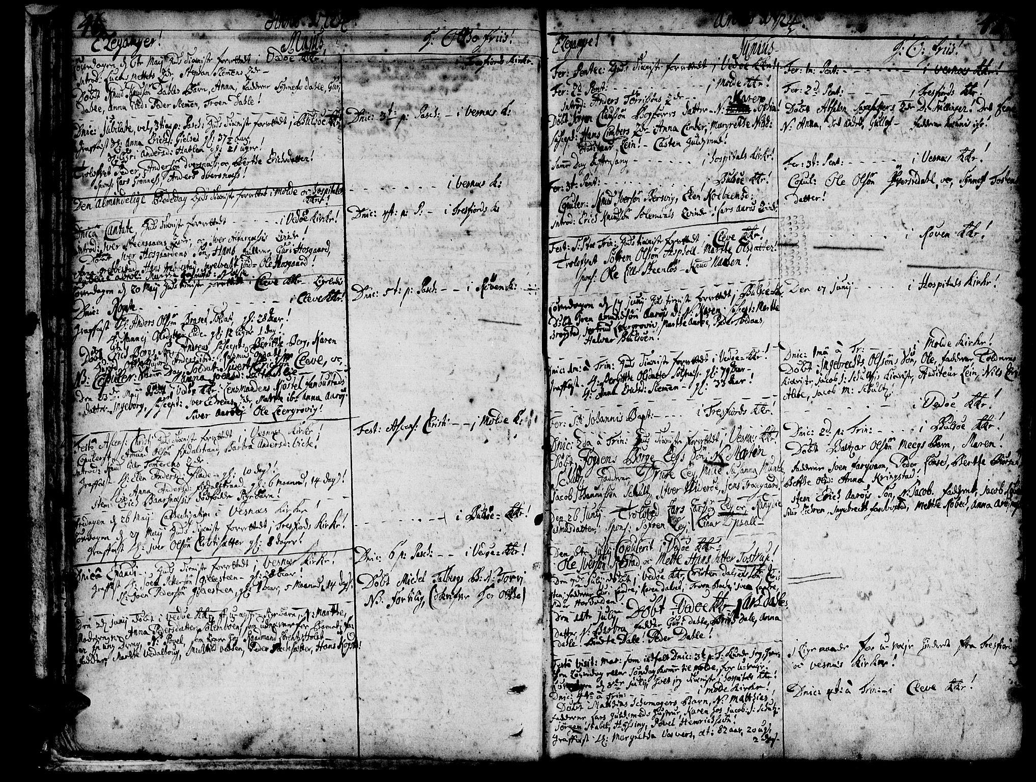 SAT, Ministerialprotokoller, klokkerbøker og fødselsregistre - Møre og Romsdal, 547/L0599: Parish register (official) no. 547A01, 1721-1764, p. 48-49