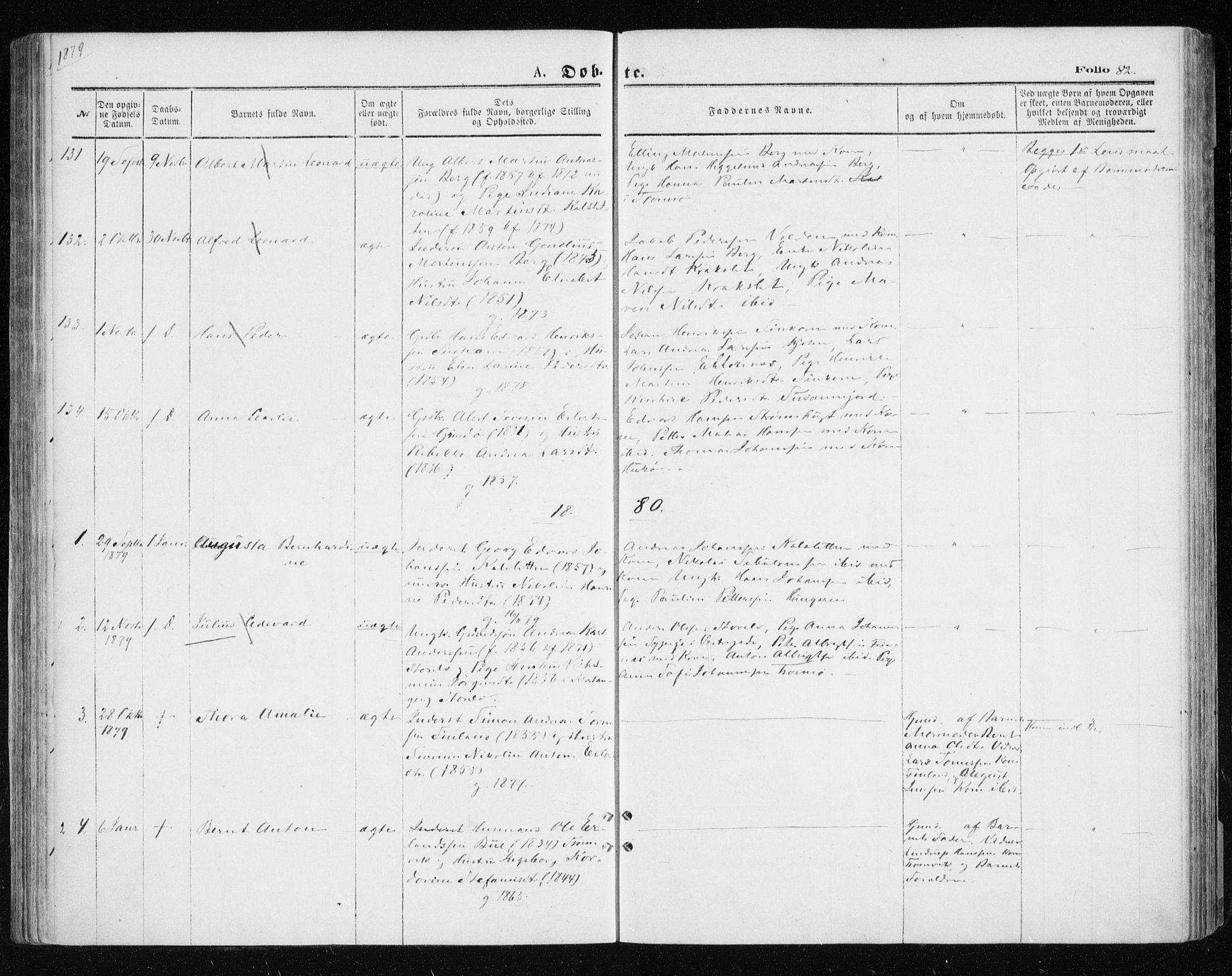 SATØ, Tromsøysund sokneprestkontor, G/Ga/L0003kirke: Parish register (official) no. 3, 1875-1880, p. 82