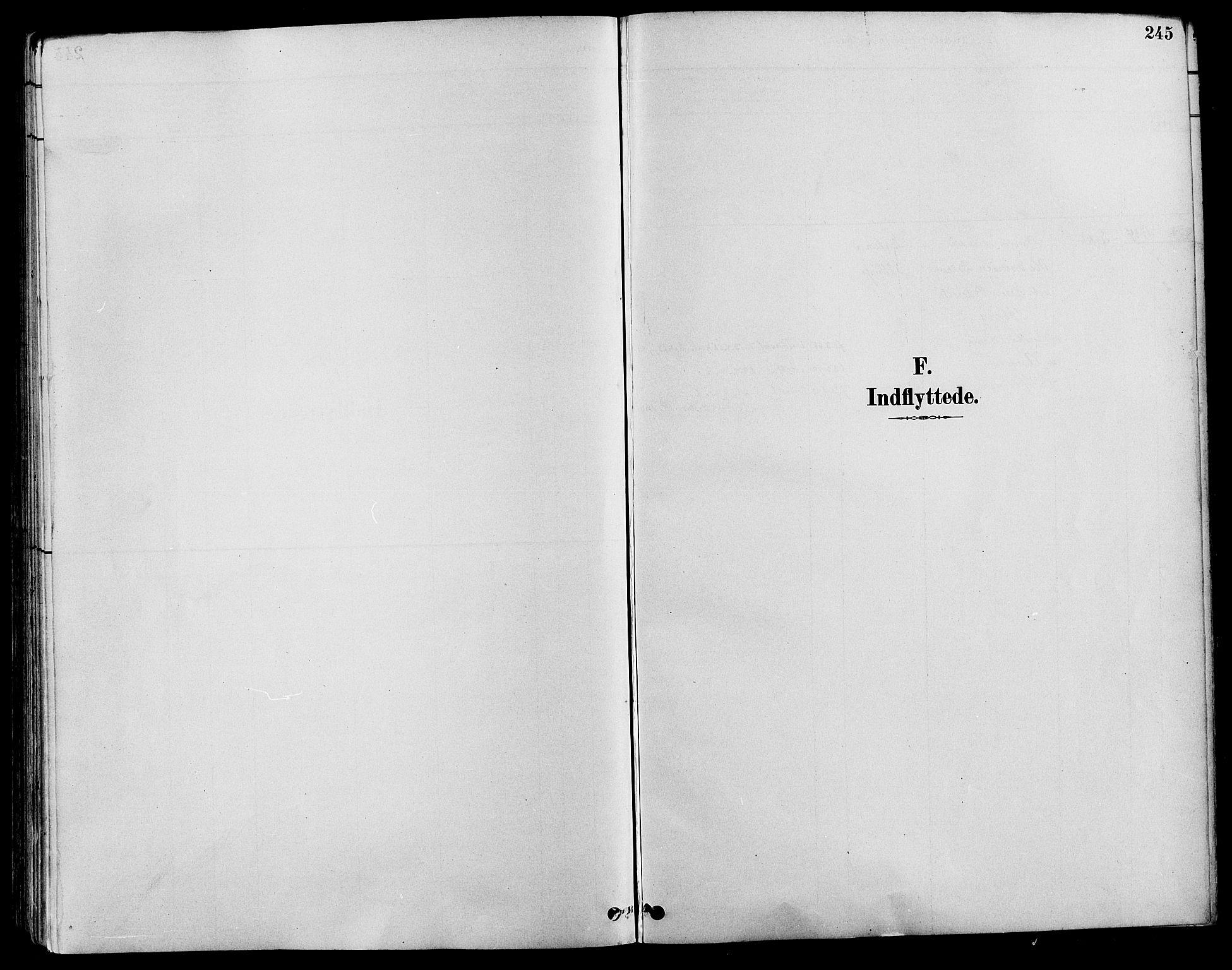 SAH, Nord-Fron prestekontor, Parish register (copy) no. 4, 1884-1914, p. 245