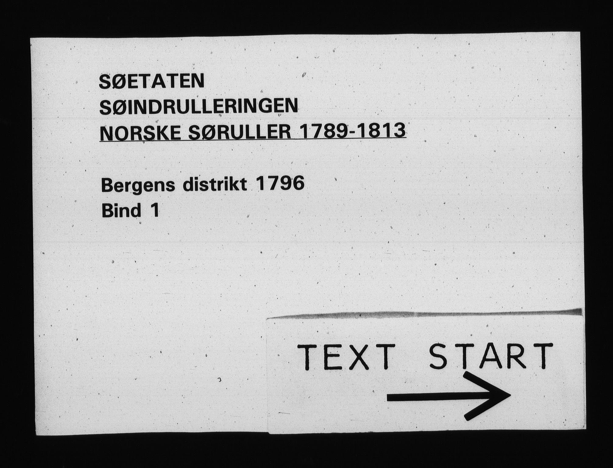 RA, Sjøetaten, F/L0223: Bergen distrikt, bind 1, 1796