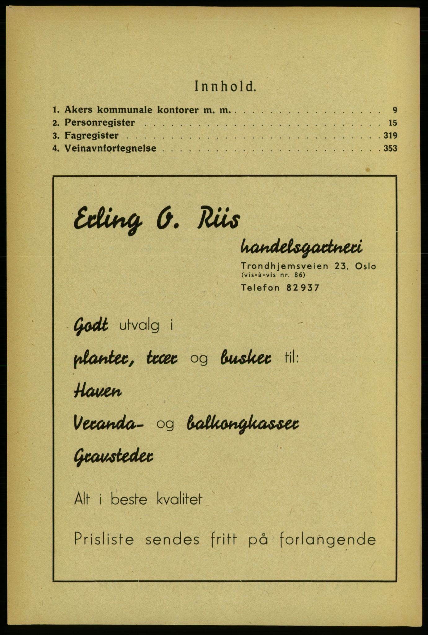 RA, Aker adressebok/adressekalender (publikasjon)*, 1934-1935