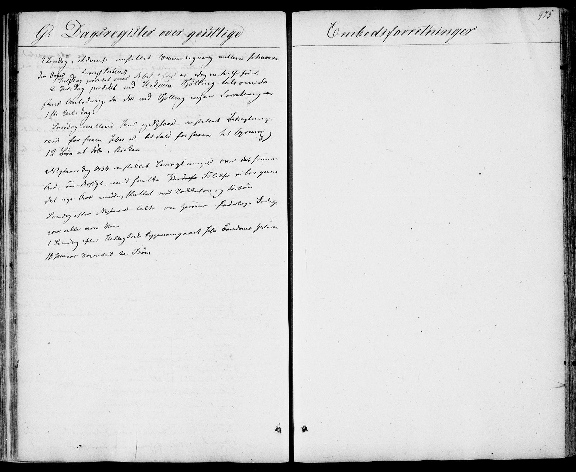 SAKO, Sandar kirkebøker, F/Fa/L0005: Parish register (official) no. 5, 1832-1847, p. 974-975
